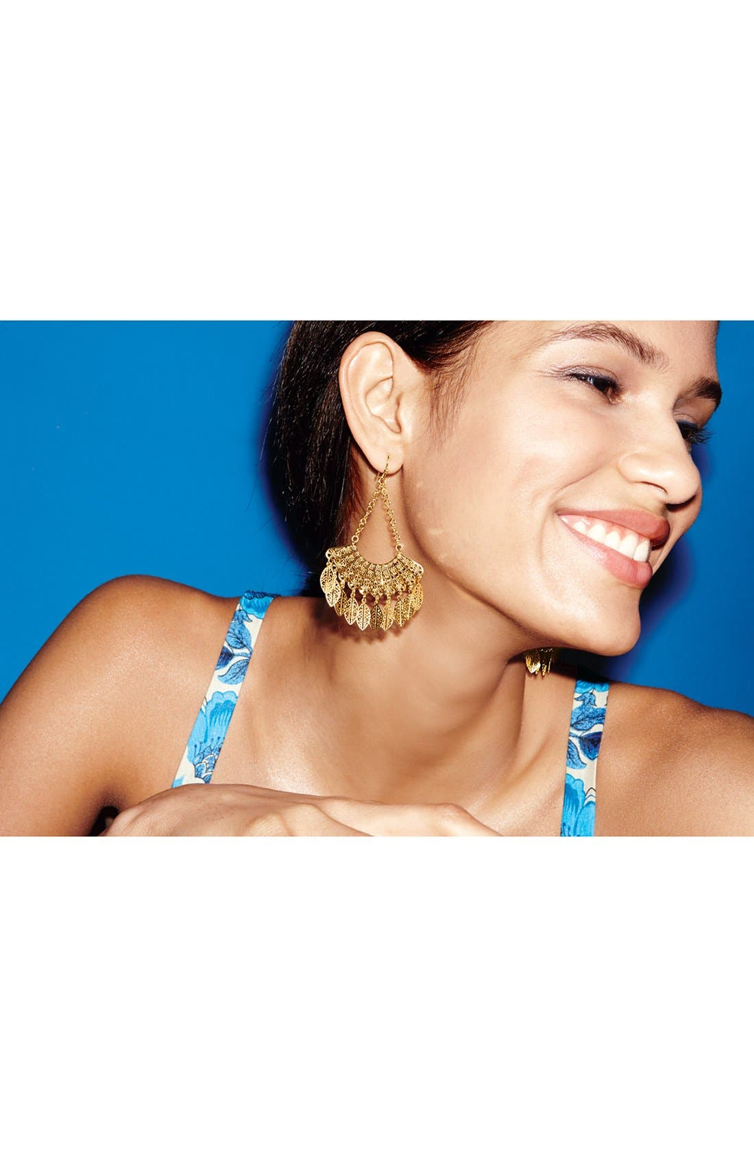 Alternate Image 4  - Nordstrom 'Delicate Lace' Fan Drop Earrings
