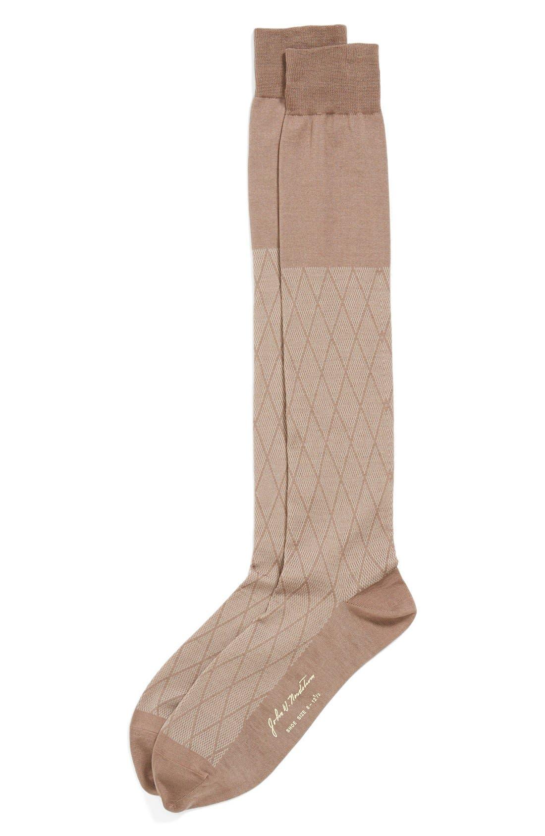 Alternate Image 1 Selected - John W. Nordstrom® Over the Calf Diamond Socks