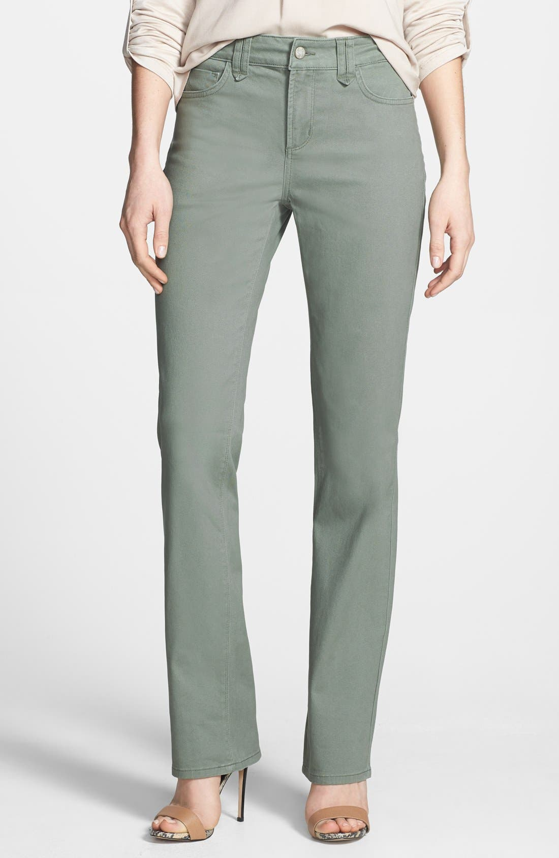 Alternate Image 1 Selected - NYDJ 'Hayden' Stretch Twill Straight Leg Jeans (Regular & Petite)