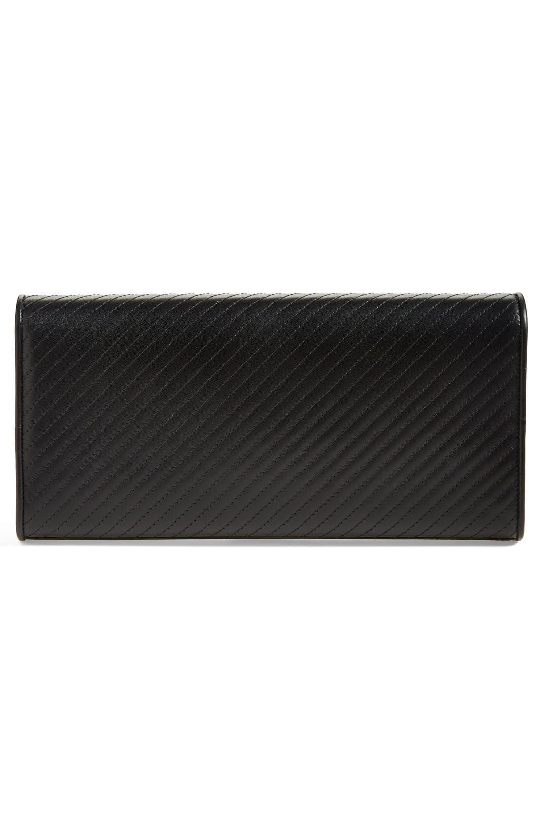 Alternate Image 4  - Saint Laurent 'Cassandre' Quilted Leather Clutch