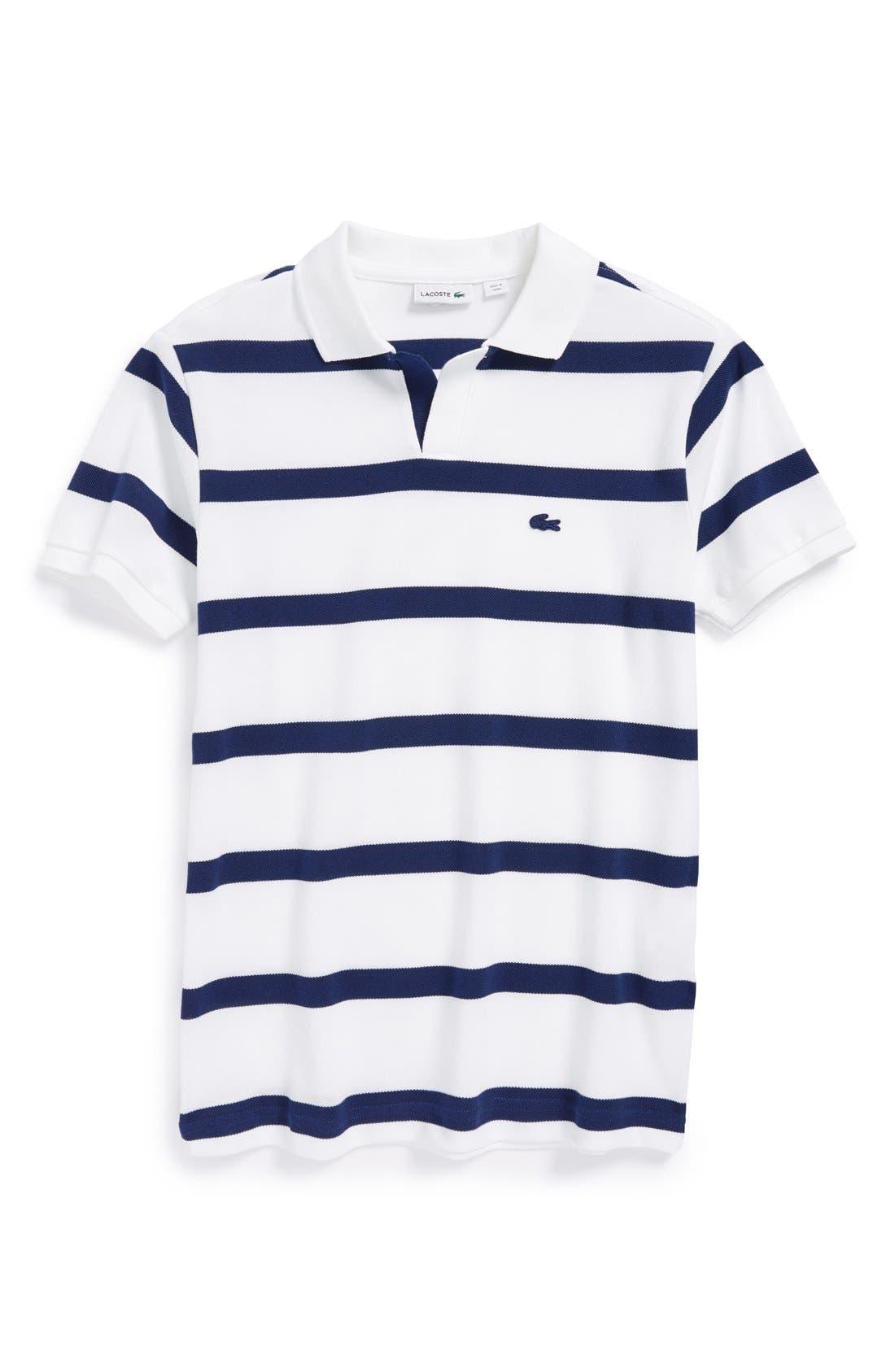 Alternate Image 1 Selected - Lacoste Stripe Cotton Piqué Polo (Little Boys & Big Boys)