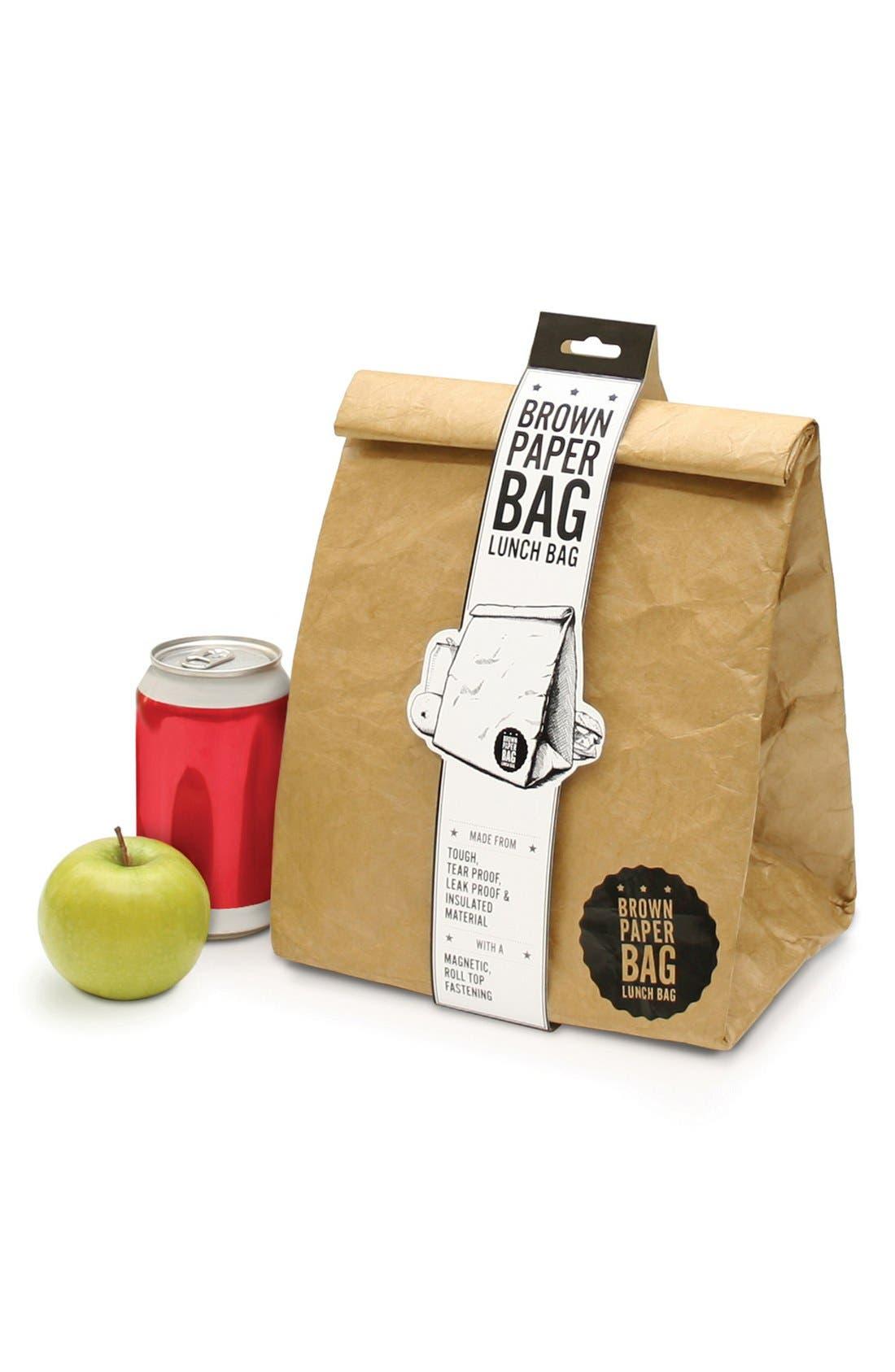 Alternate Image 2  - Luckies of London 'Brown Paper Bag' Insulated Tyvek® Lunch Sack