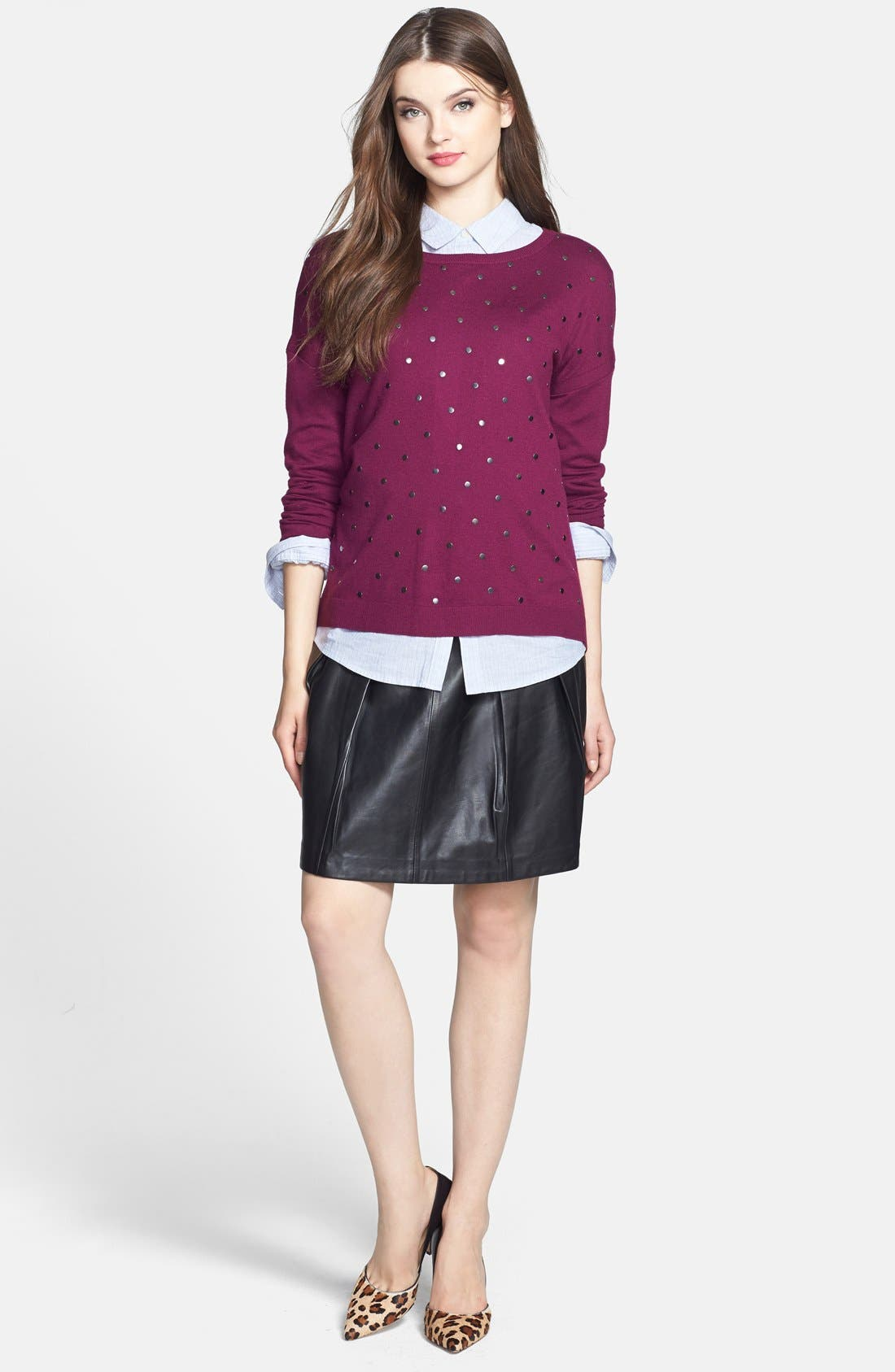 Alternate Image 4  - Caslon® Studded Sweater