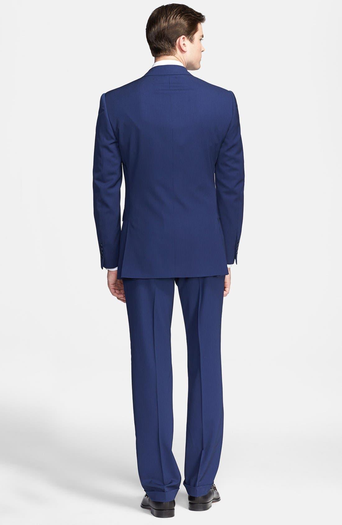 Alternate Image 2  - Ralph Lauren Black Label Twill Wool Suit
