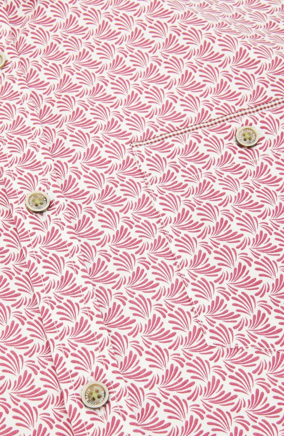 Alternate Image 5  - Ted Baker London 'Yurtamp' Short Sleeve Print Sport Shirt