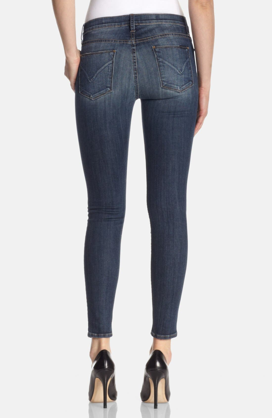Alternate Image 2  - Hudson Jeans 'Nico' Mid Rise Skinny Jeans (Glam)