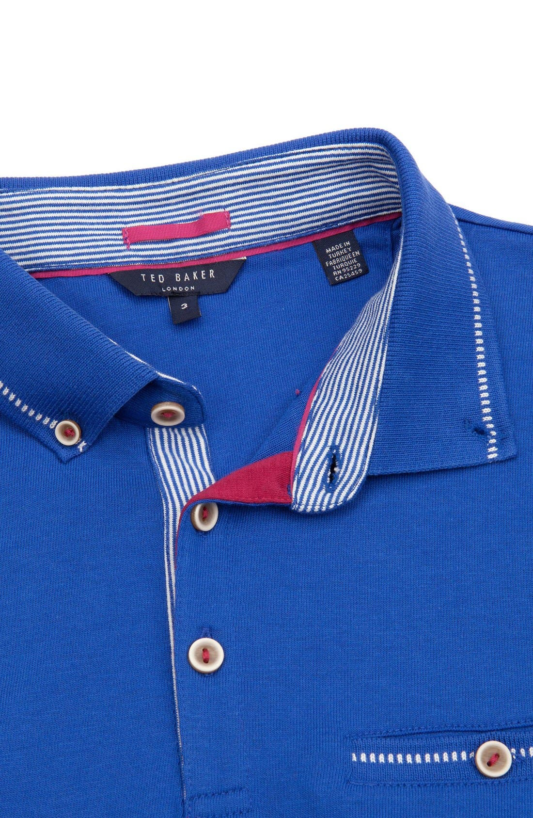 Alternate Image 4  - Ted Baker London 'Rosbowl' Solid Knit Polo
