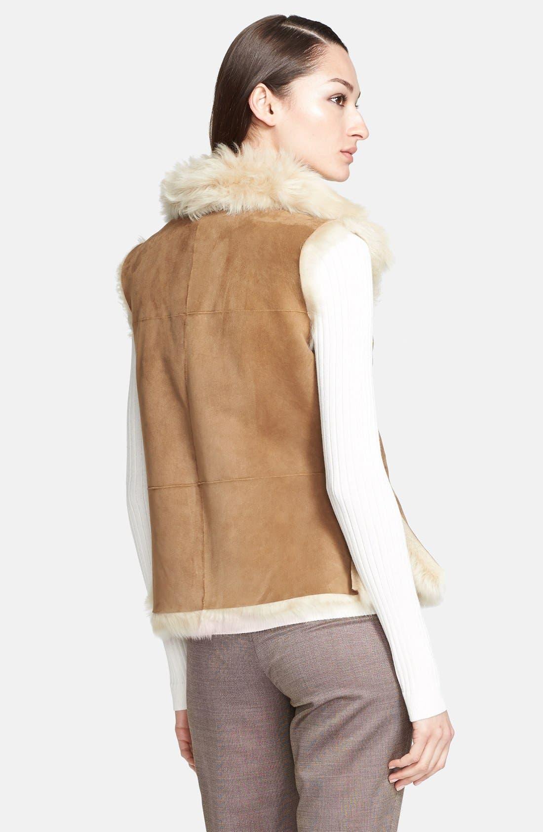 Alternate Image 2  - St. John Collection Genuine Shearling Vest