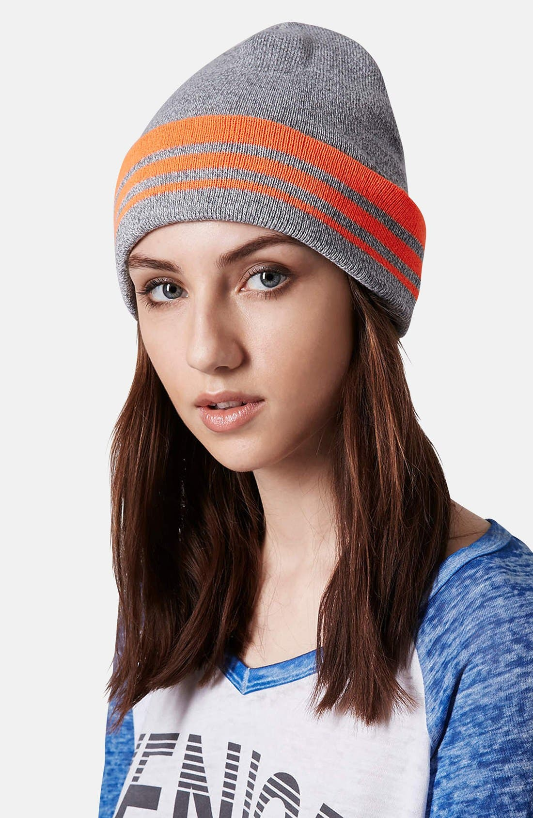 Alternate Image 2  - Topshop Stripe Beanie