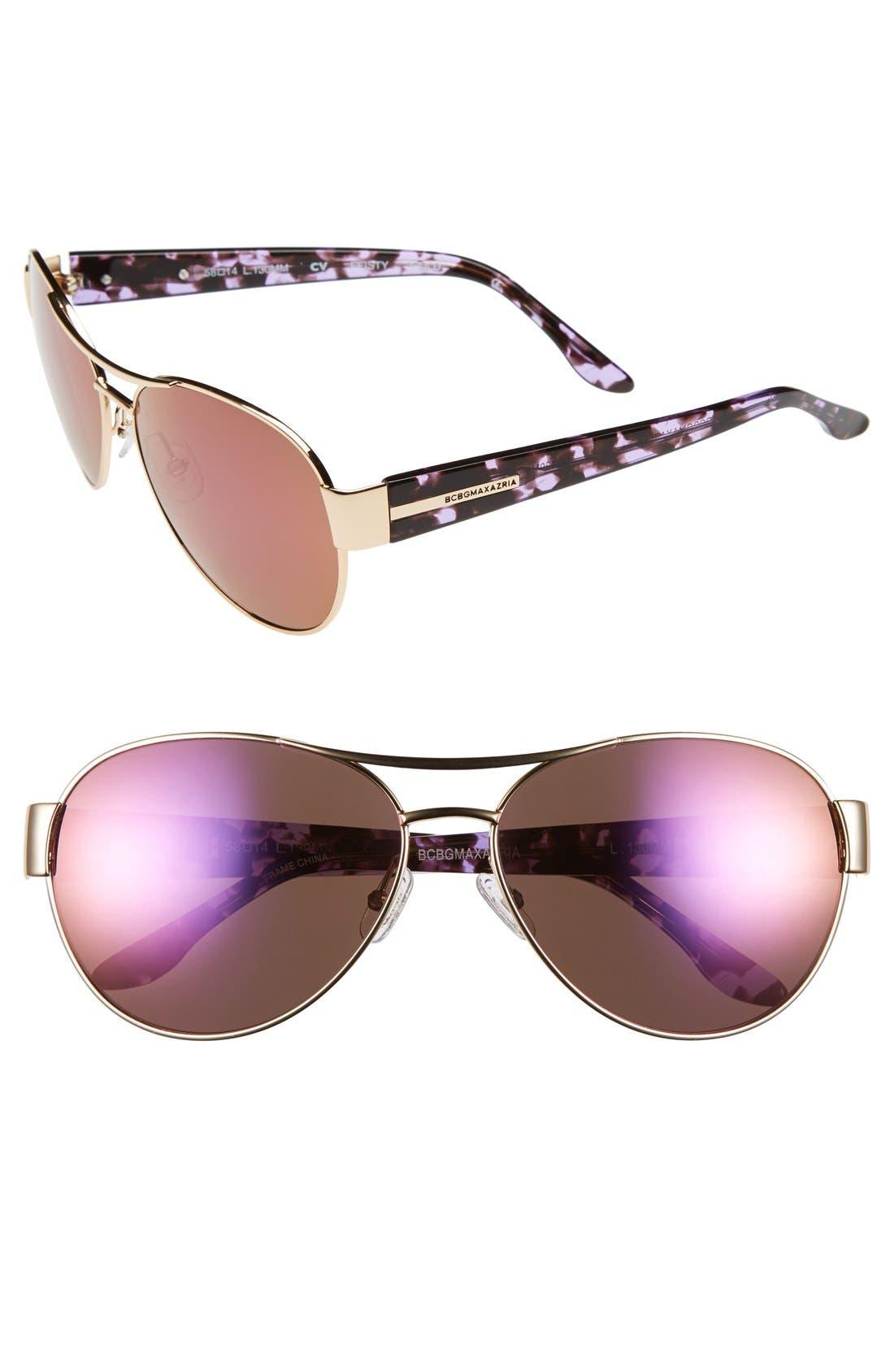 Main Image - BCBGMAXAZRIA 'Feisty' 58mm Sunglasses