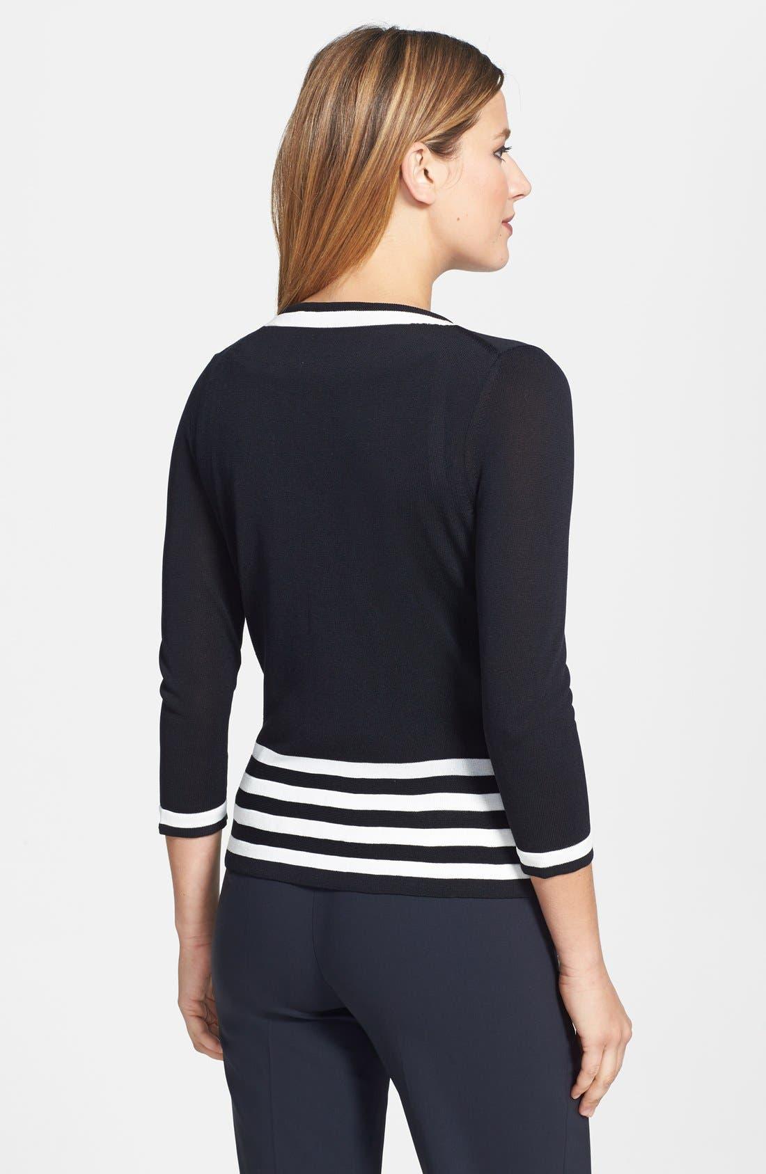 Alternate Image 2  - BOSS Contrast Stripe Knit Cardigan