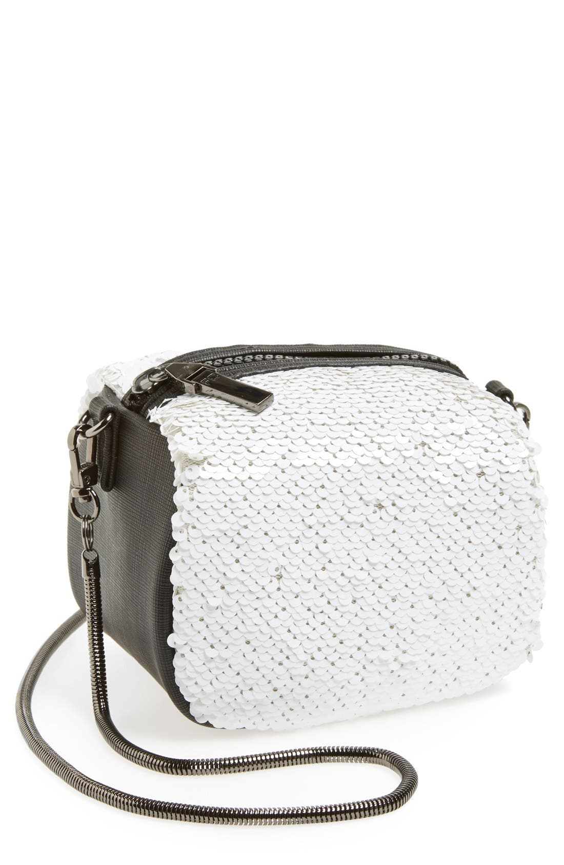 Alternate Image 1 Selected - French Connection 'Mini Sequin' Crossbody