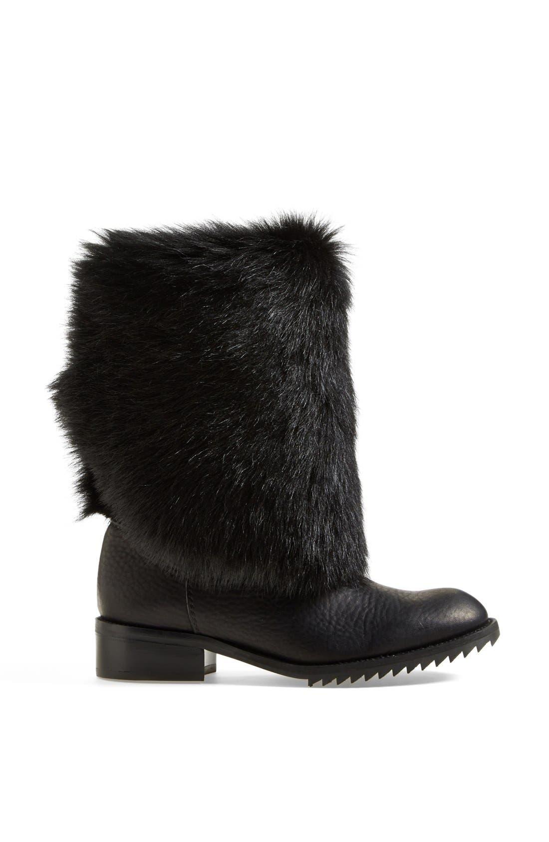 Alternate Image 4  - Pedro Garcia 'Odette' Genuine Shearling & Leather Boot (Women)