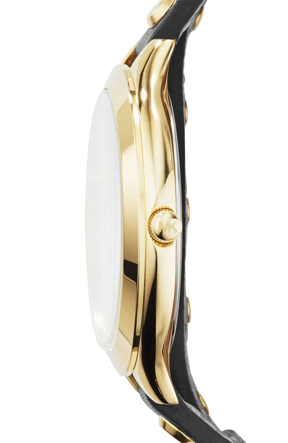 Alternate Image 3  - Michael Kors 'Slim Runway' Double Wrap Leather Strap Watch, 42mm