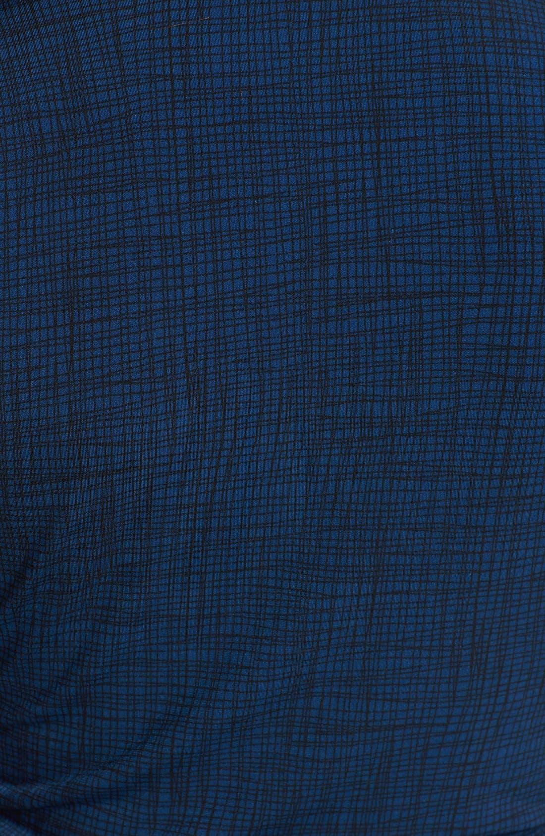 Alternate Image 3  - Vince Camuto Print Pleat V-Neck Top (Regular & Petite)