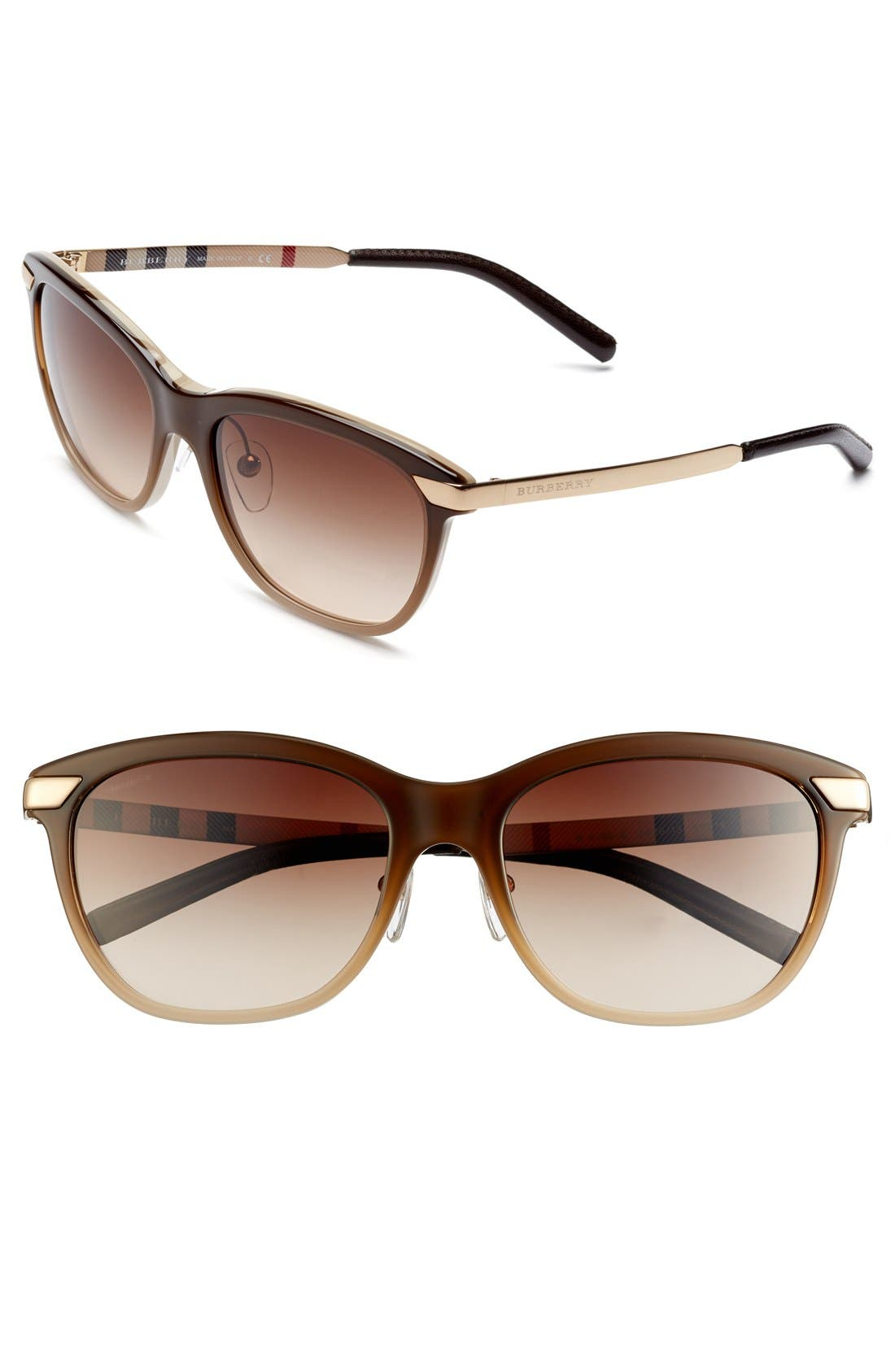 Alternate Image 1 Selected - Burberry 57mm Sunglasses