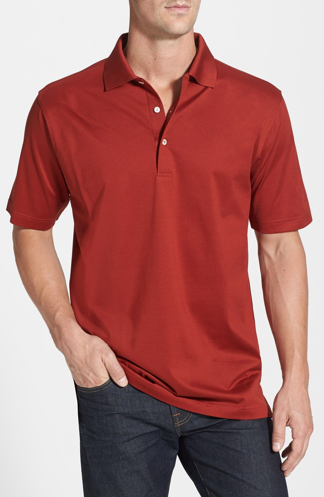 Alternate Image 1 Selected - Peter Millar Egyptian Cotton Polo