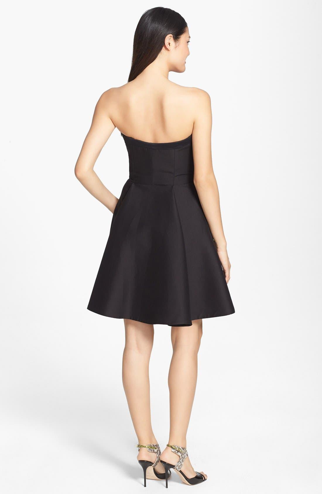 Alternate Image 2  - Halston Heritage Strapless Fit & Flare Dress