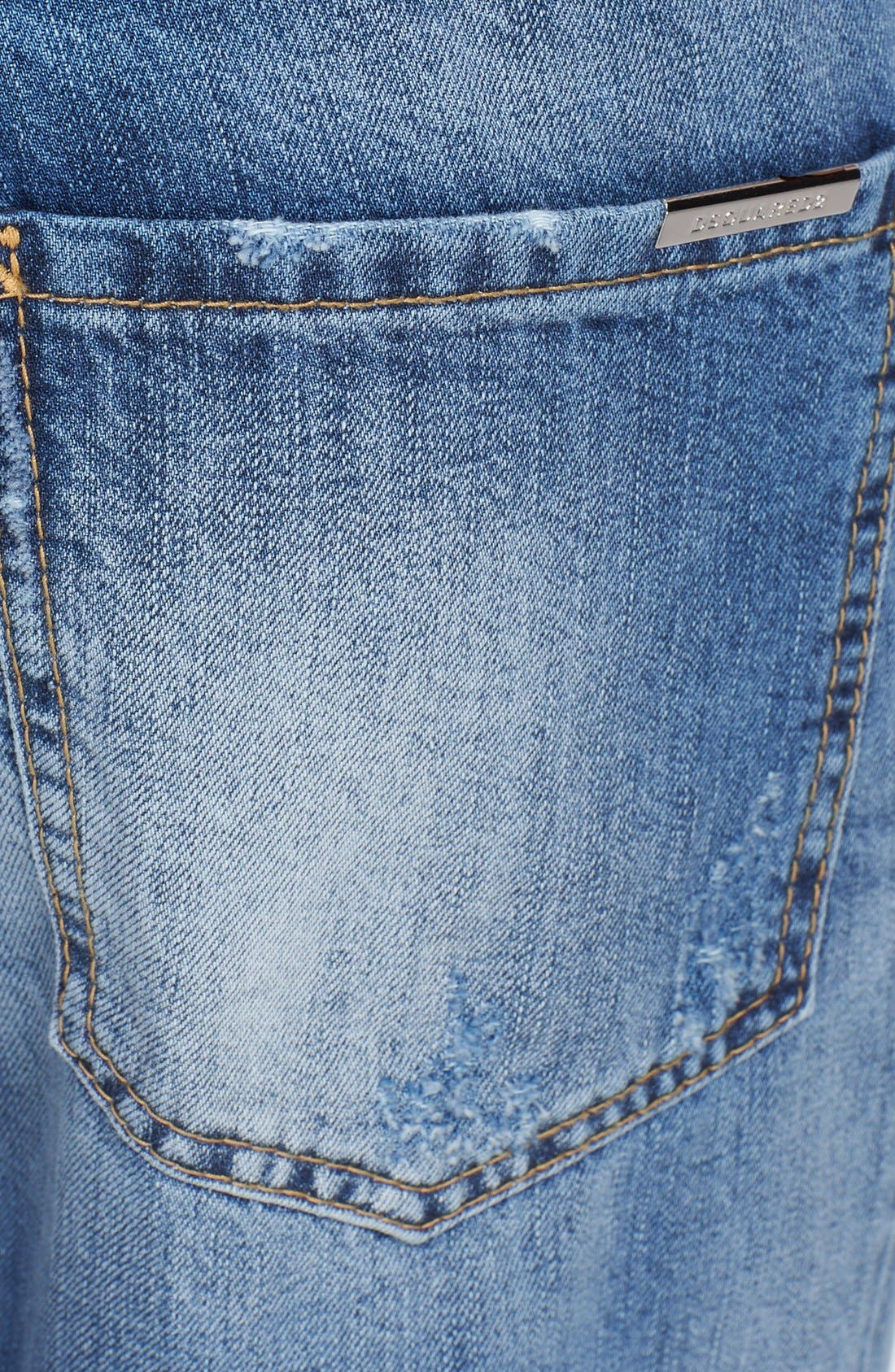 Alternate Image 4  - Dsquared2 'Cool Guy' Skinny Fit Jeans (Blue)