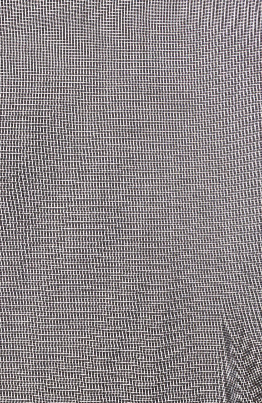 Alternate Image 5  - Z Zegna Extra Trim Fit Grey Cotton Suit