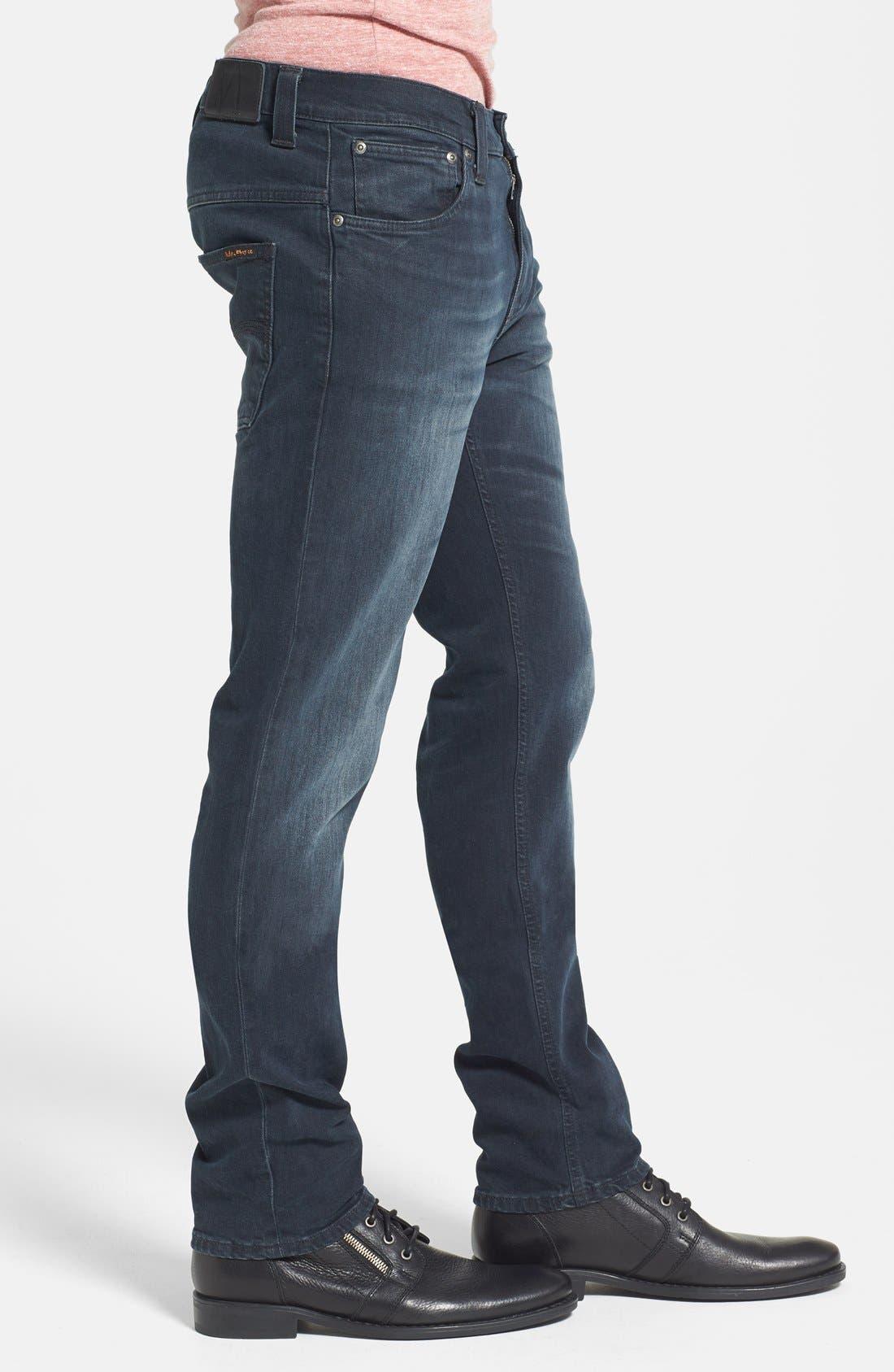 Alternate Image 3  - Nudie Jeans 'Thin Finn' Skinny Fit Jeans (Organic Black Grey)