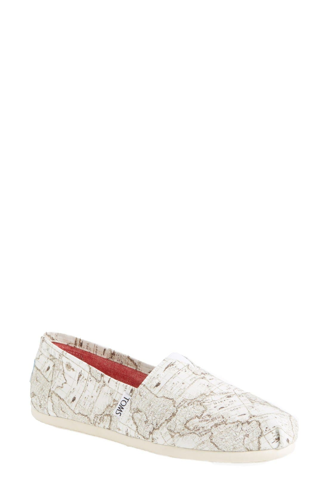 Alternate Image 1 Selected - TOMS 'Classic - Voyage Map' Slip-On (Women)