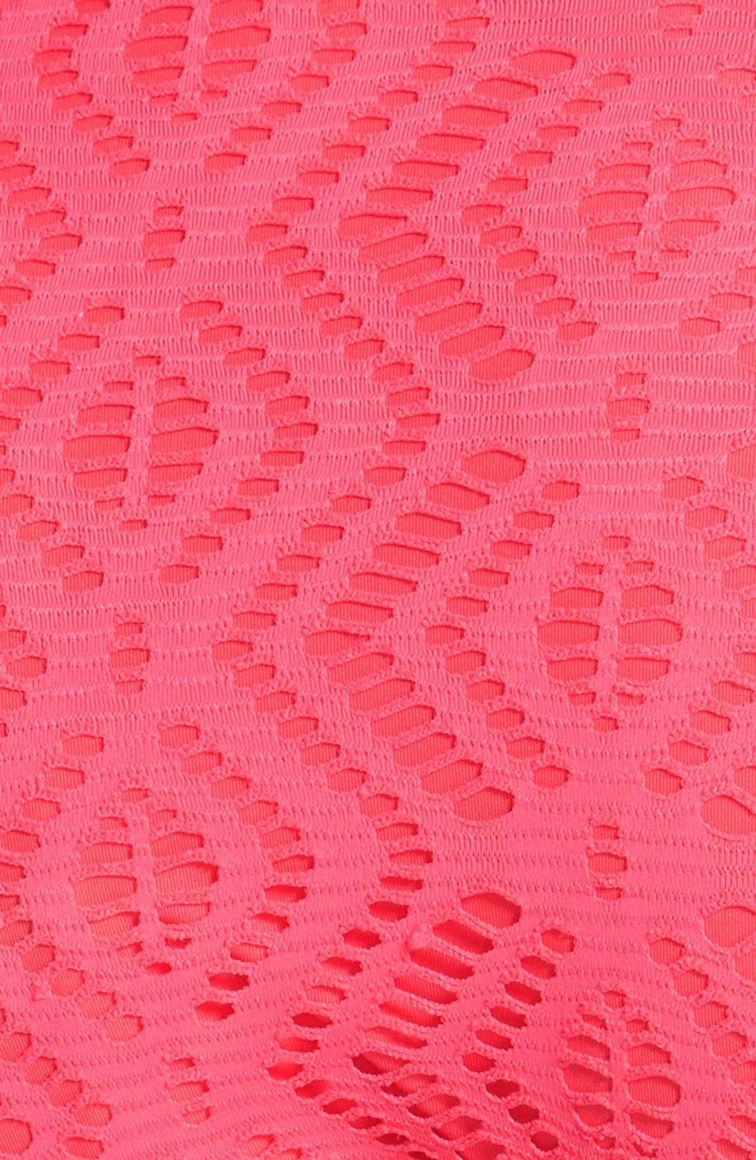 Alternate Image 5  - Becca Crochet Ruched Side Bikini Bottoms