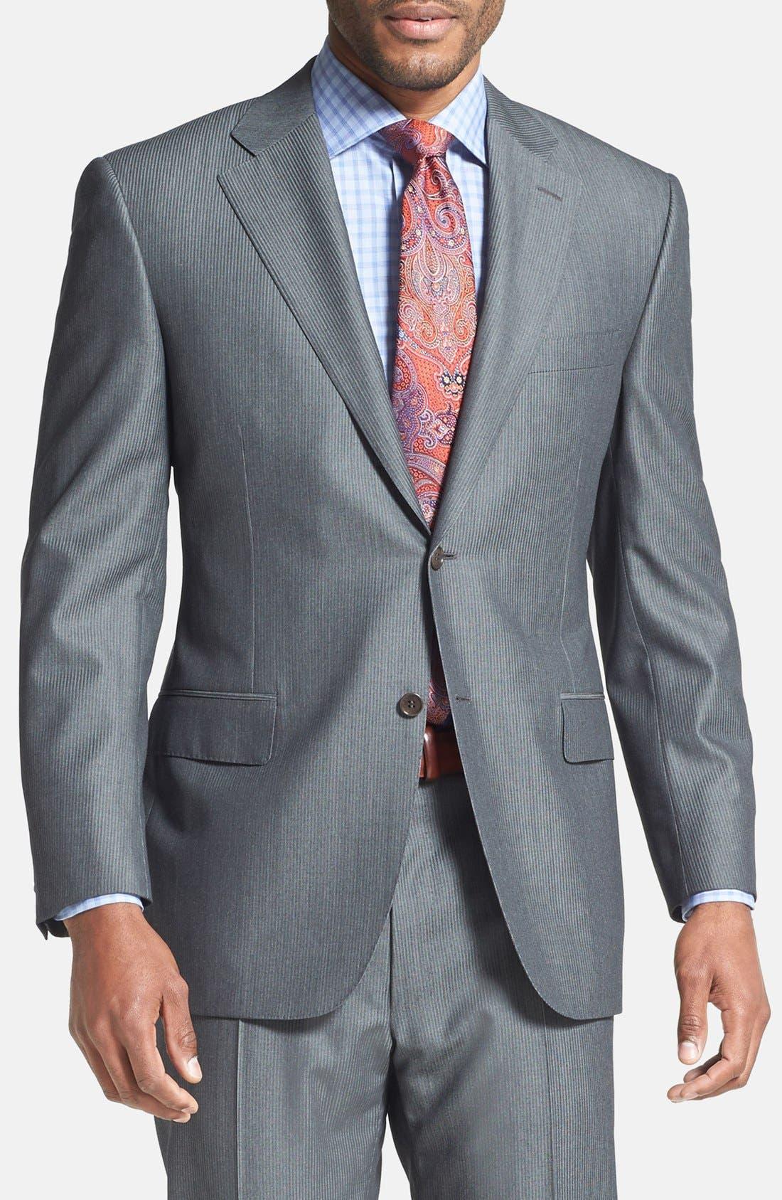 Alternate Image 3  - Canali Classic Fit Herringbone Suit