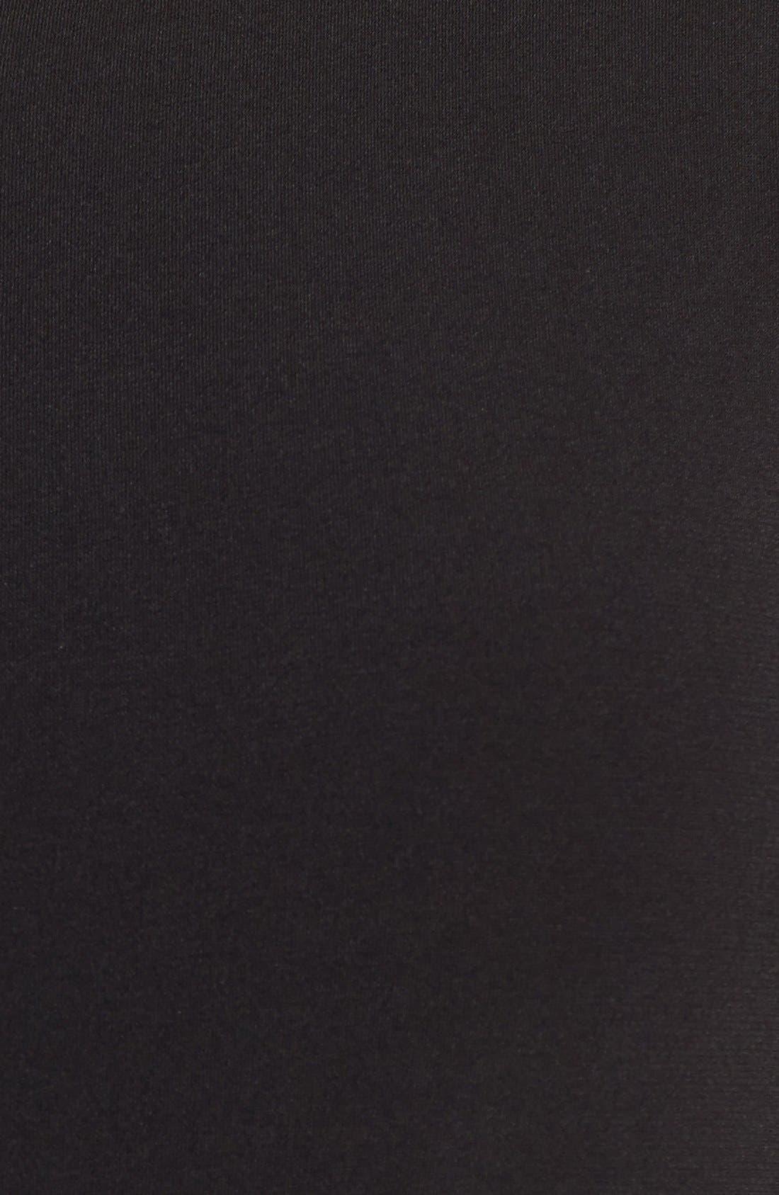 Alternate Image 3  - Calvin Klein Faux Leather Trim Drawstring Waist Dress