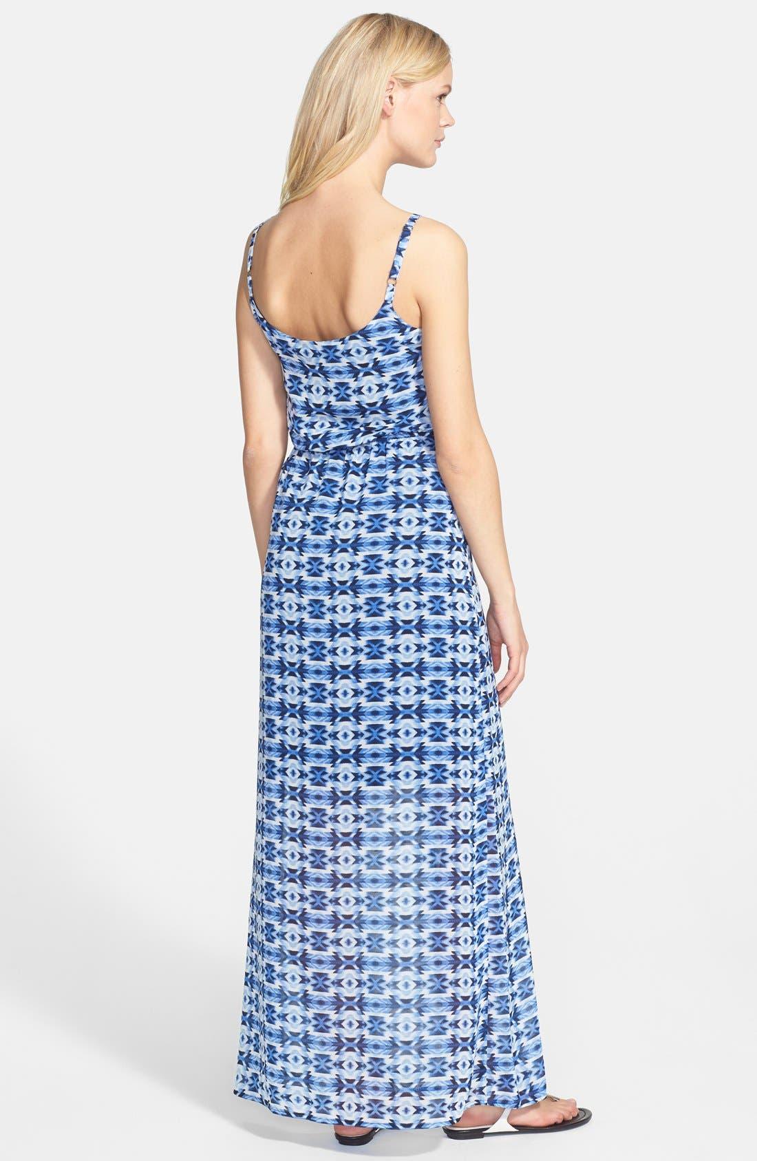 Alternate Image 2  - Bobeau Print Elastic Waist Maxi Dress