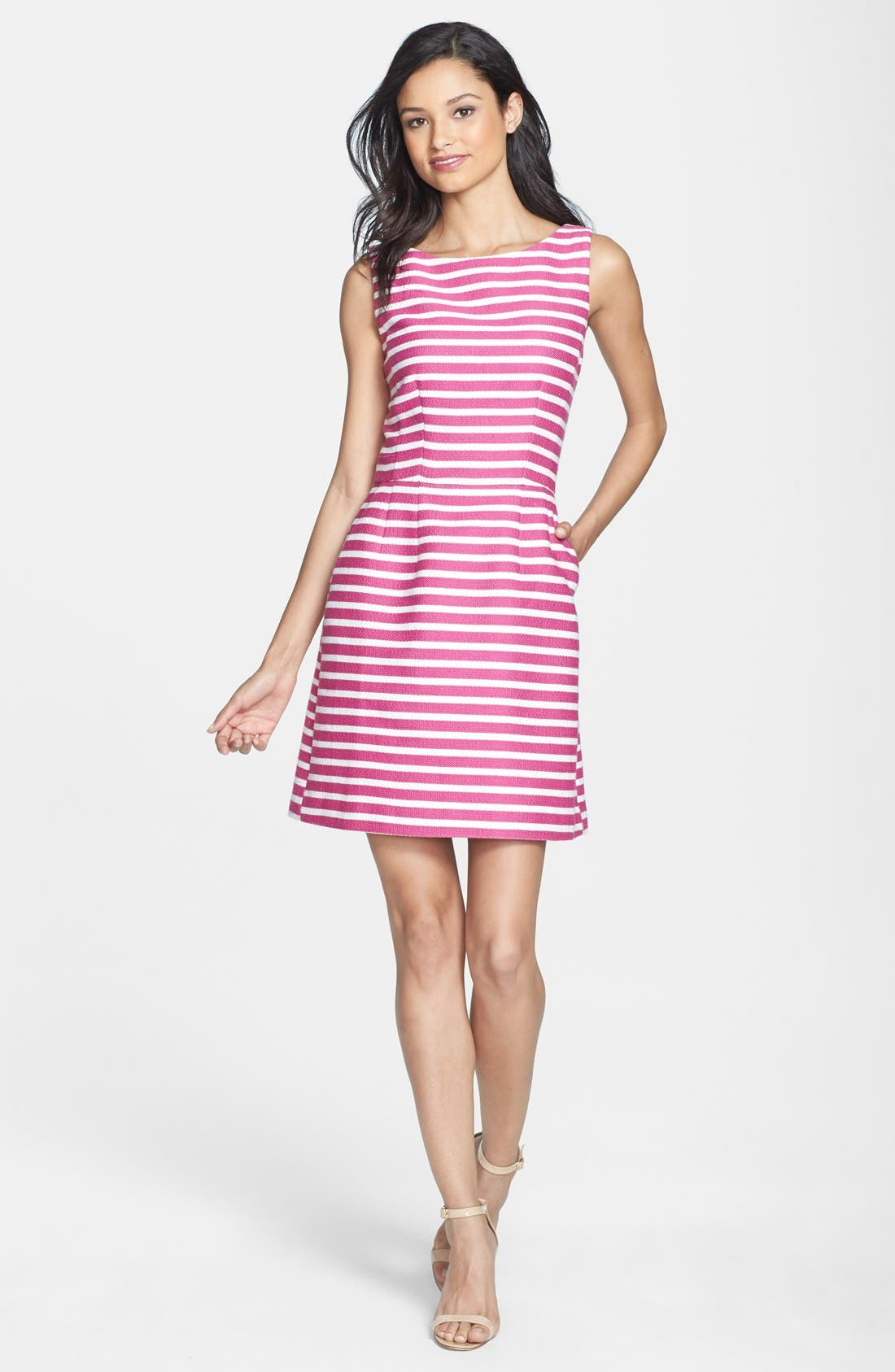 Alternate Image 1 Selected - Halogen® Cutout Back Jacquard Dress (Regular & Petite)
