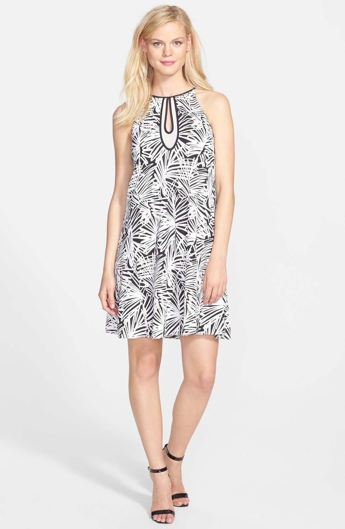 Main Image - DKNYC Print Sleeveless Trapeze Dress