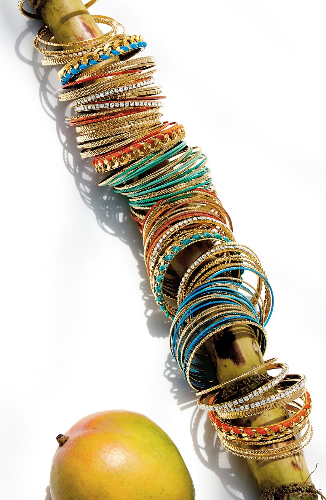 Alternate Image 2  - Cara Mixed Media Bangles (Set of 9)