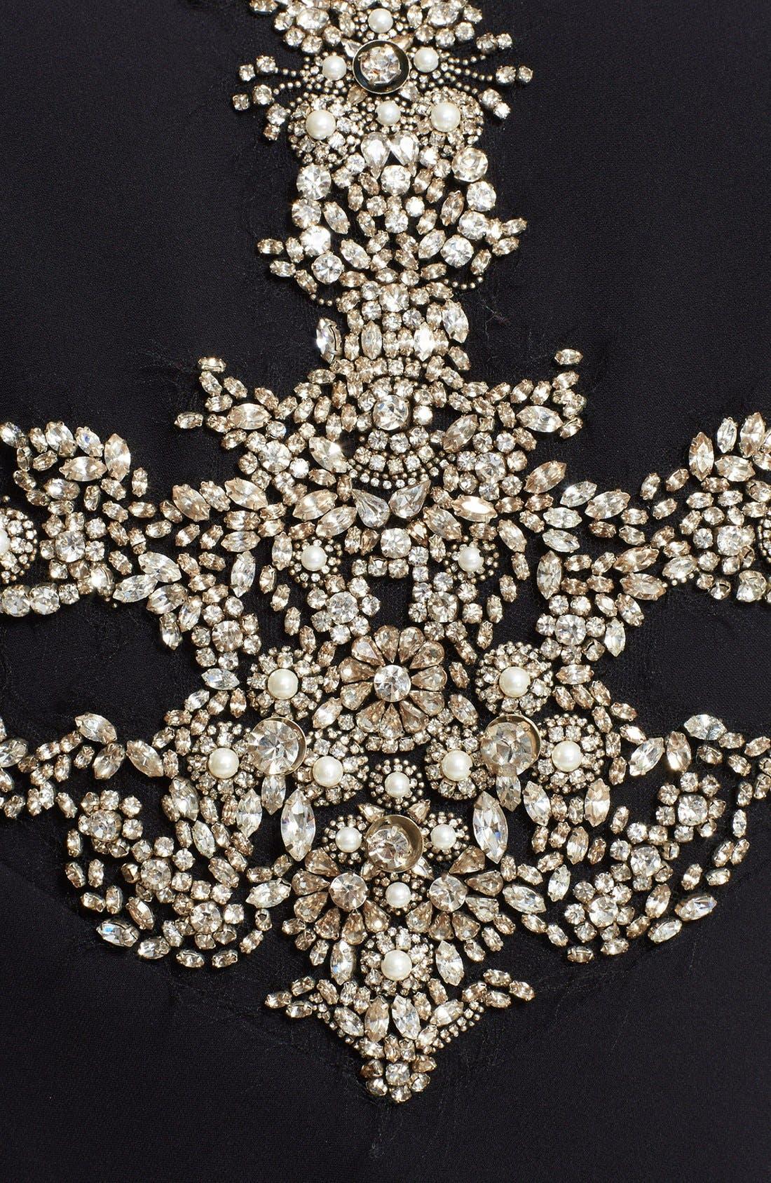 Alternate Image 3  - Alexander McQueen Embellished Crepe Gown