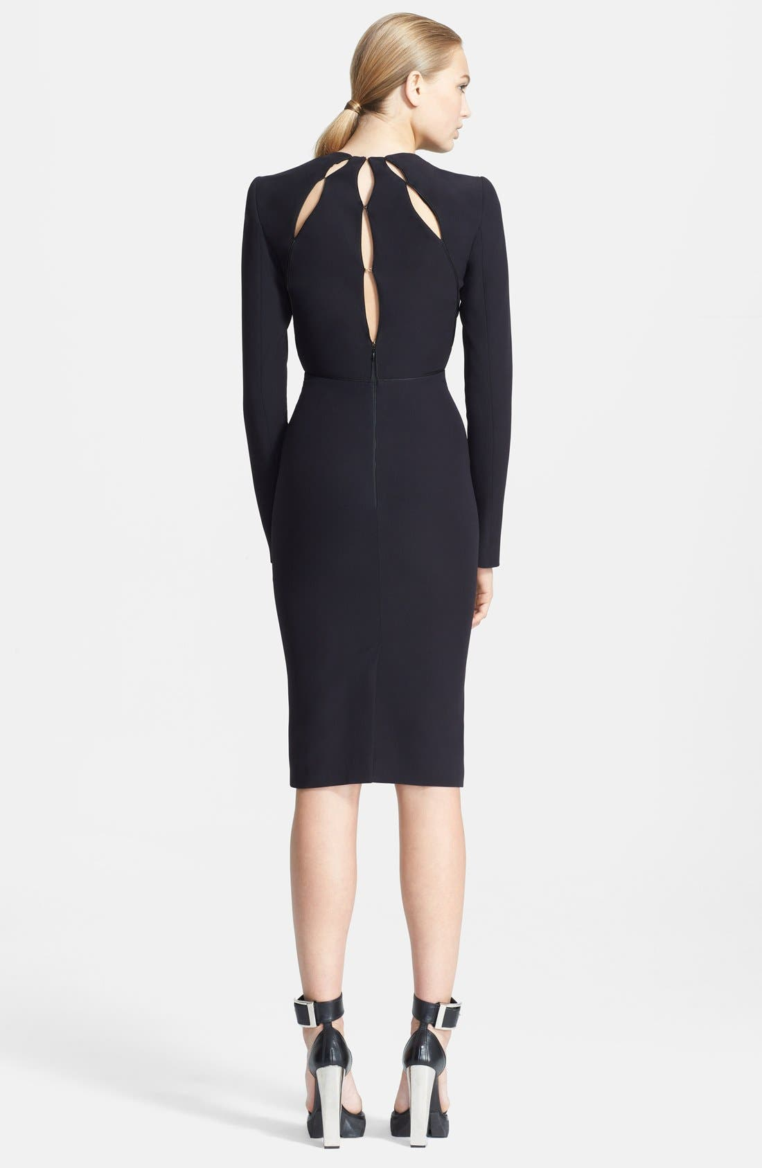 Alternate Image 2  - Alexander McQueen Keyhole Detail Pencil Dress