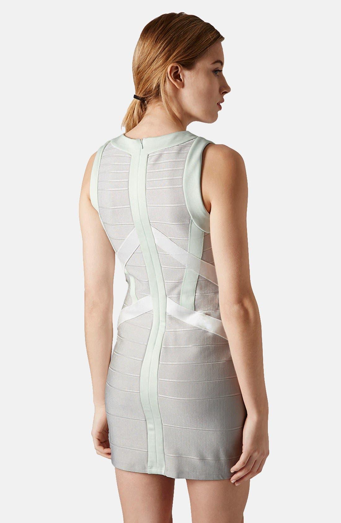 Alternate Image 2  - Topshop Satin Bandage Body-Con Dress