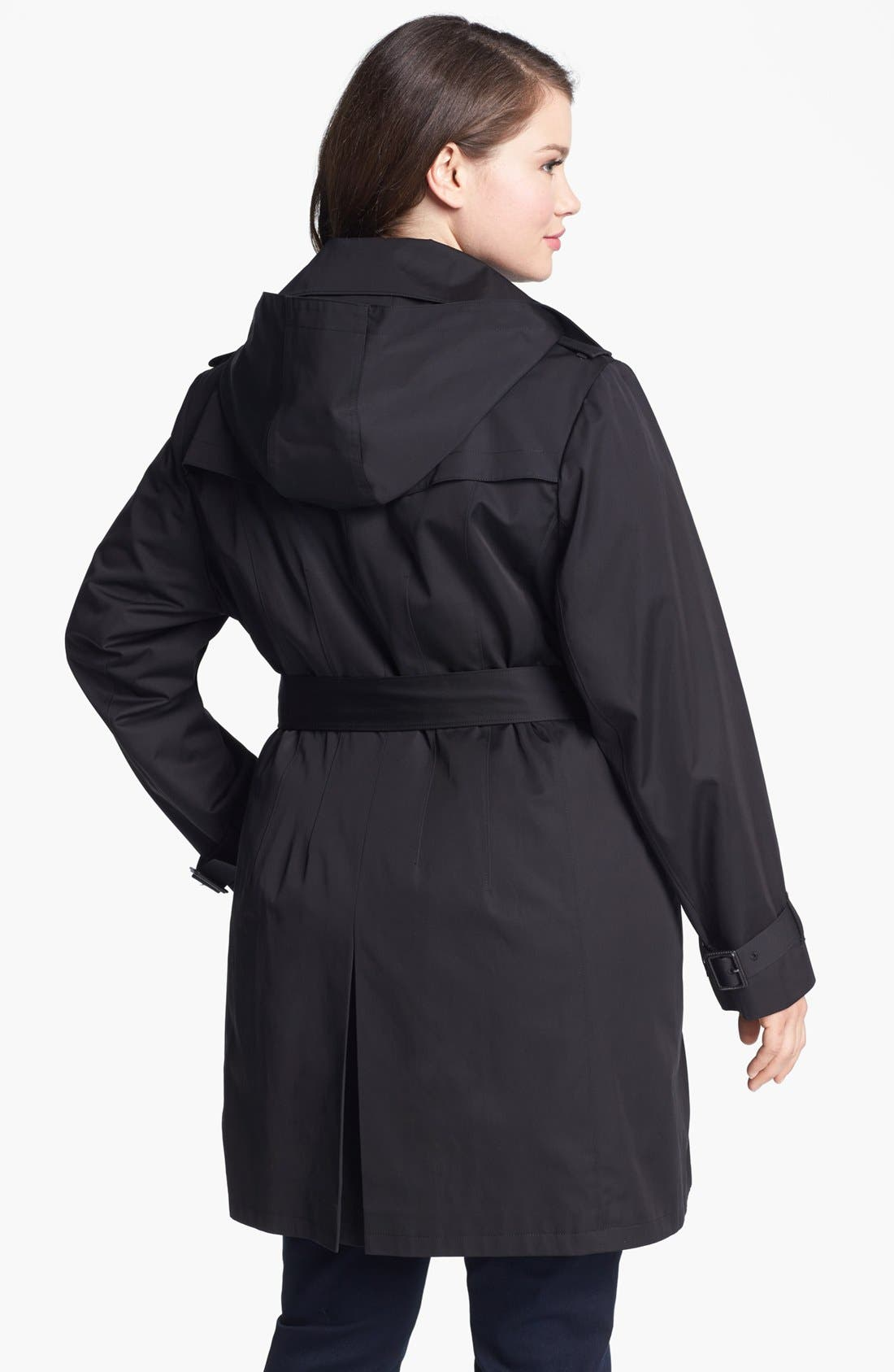 Alternate Image 2  - MICHAEL Michael Kors Belted Trench with Detachable Liner (Plus Size)