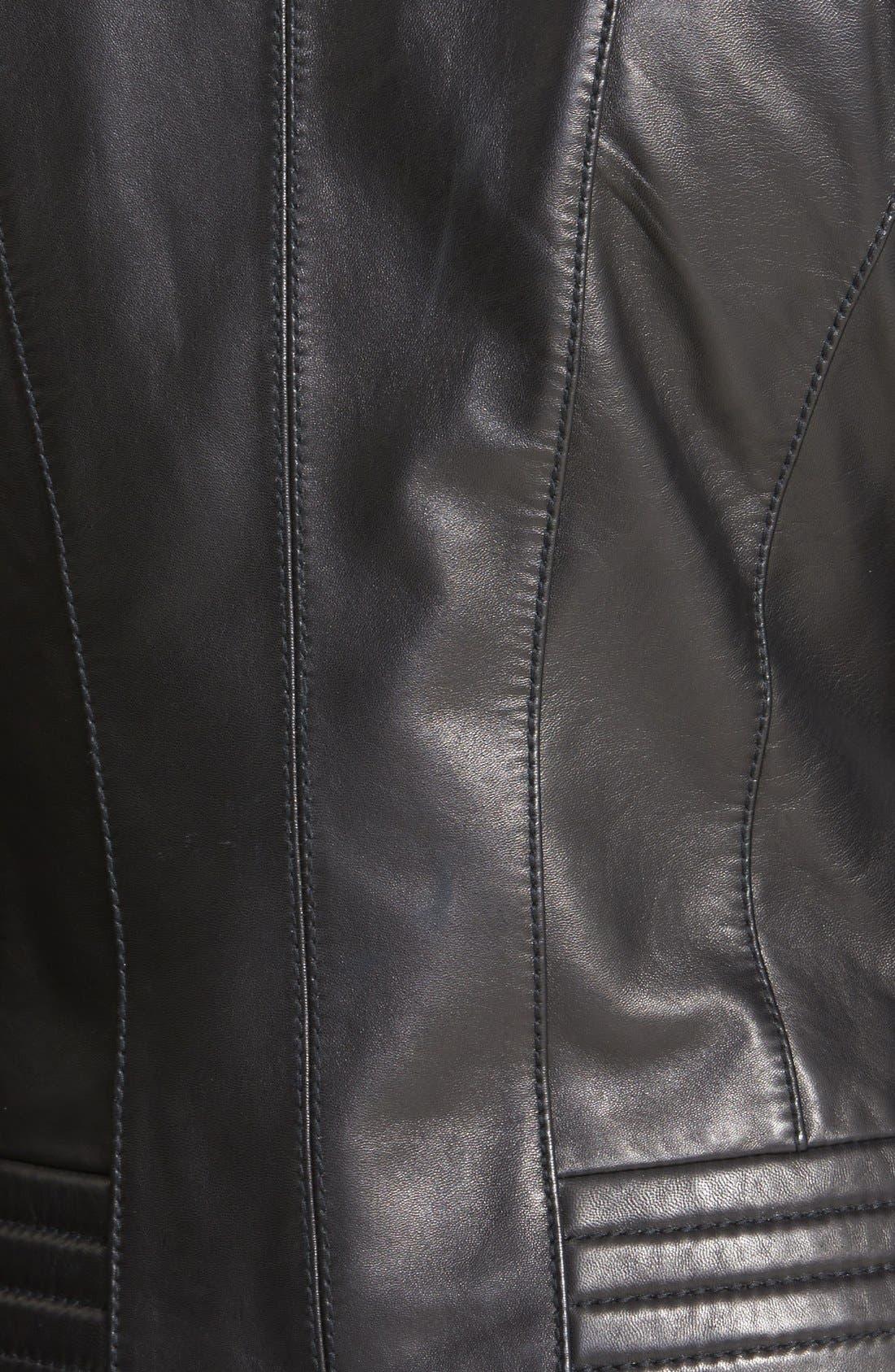 Alternate Image 3  - MICHAEL Michael Kors Quilt Detail Leather Jacket (Online Only)