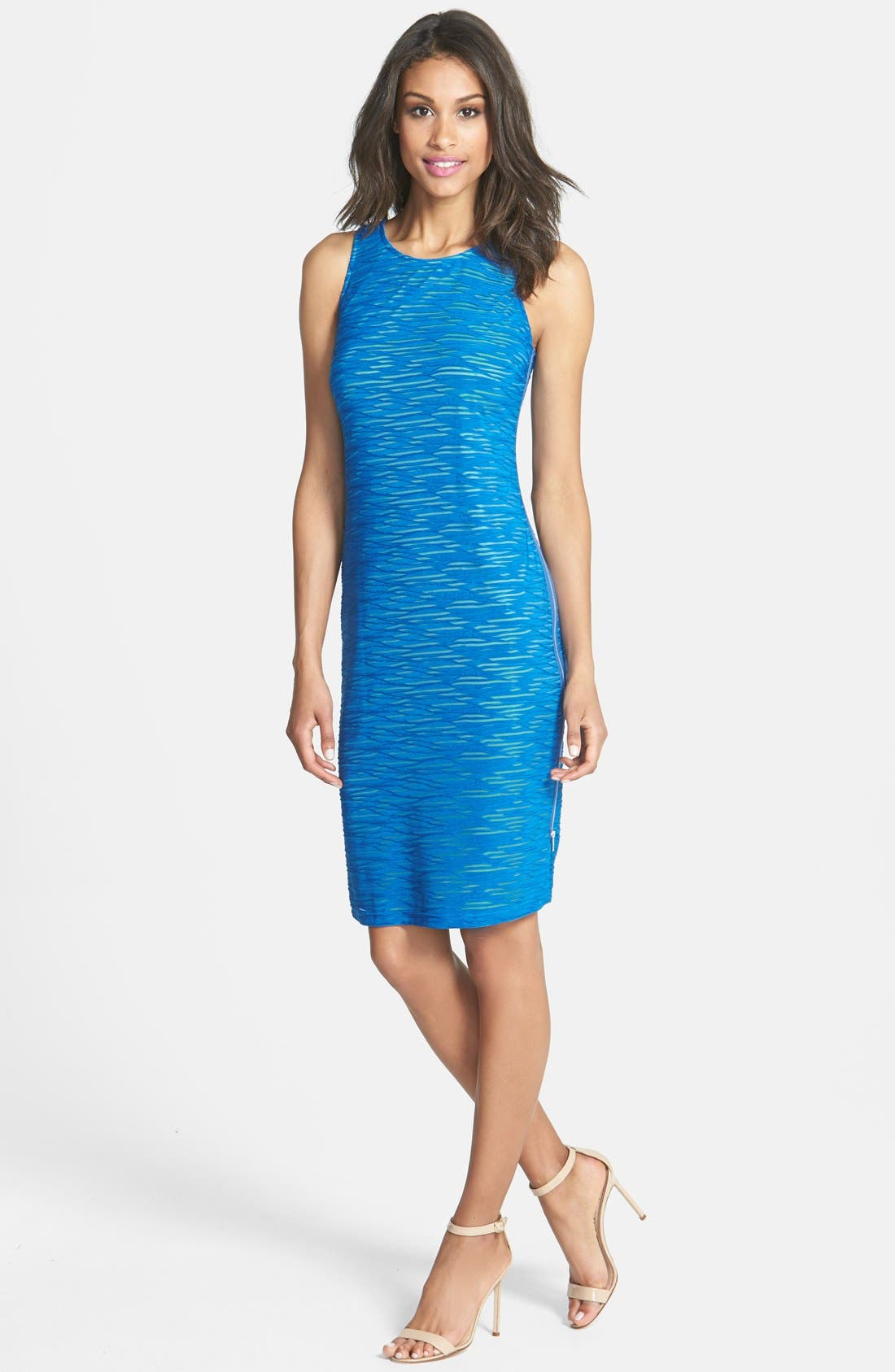 Alternate Image 3  - Marc New York by Andrew Marc Textured Knit Sheath Dress