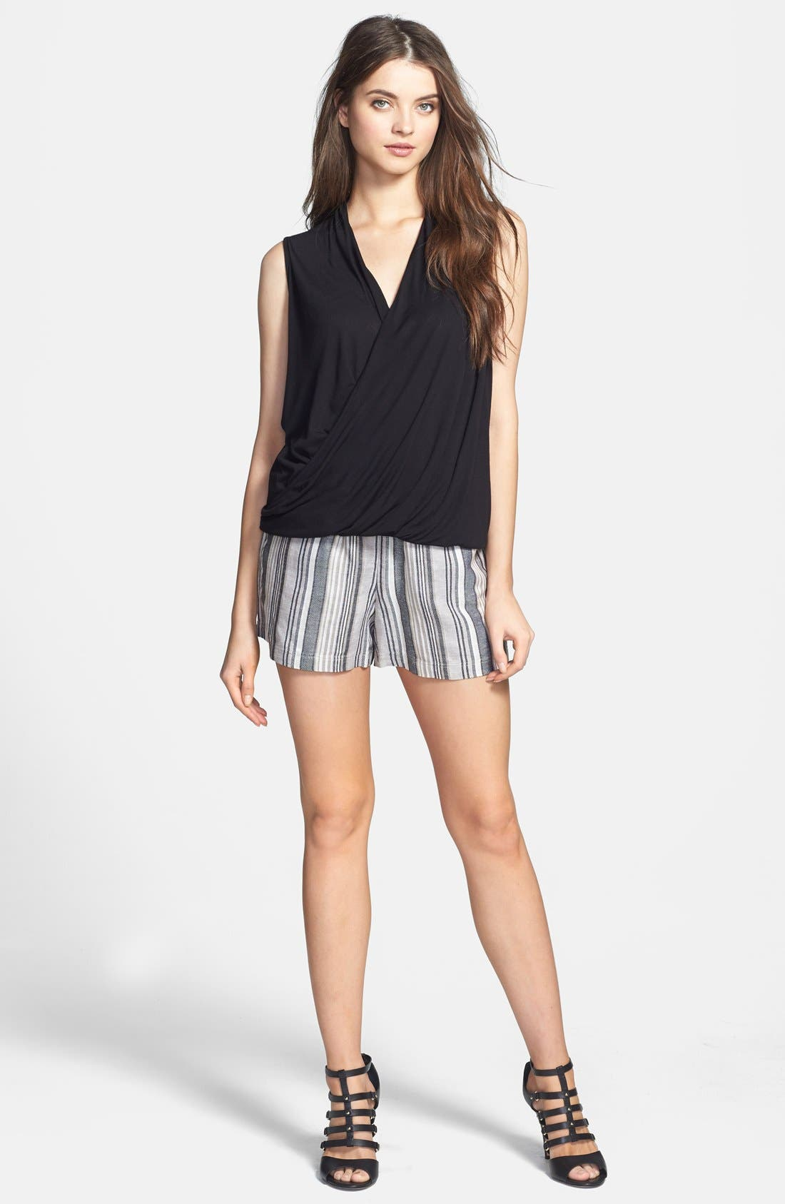 Alternate Image 5  - Vince Camuto Stripe Linen Blend Shorts