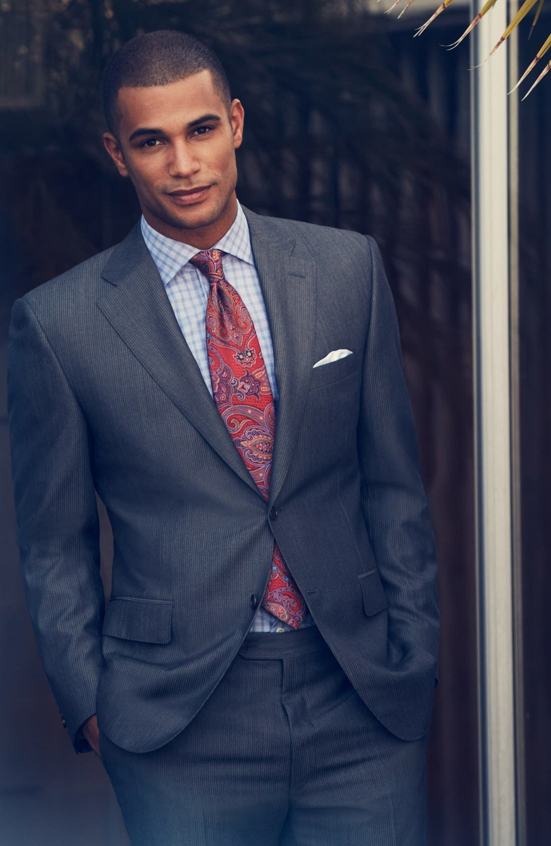 Alternate Image 7  - Canali Classic Fit Herringbone Suit