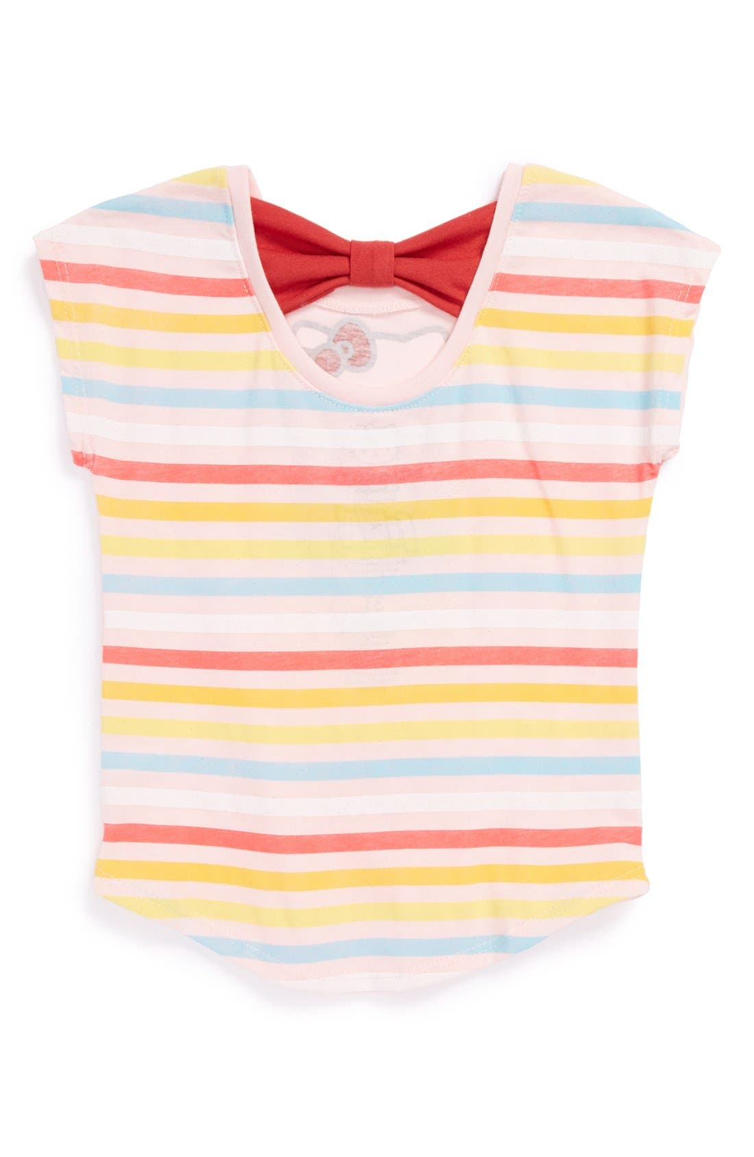 Alternate Image 2  - Mighty Fine Hello Kitty® Bow Back Tee (Toddler Girls)