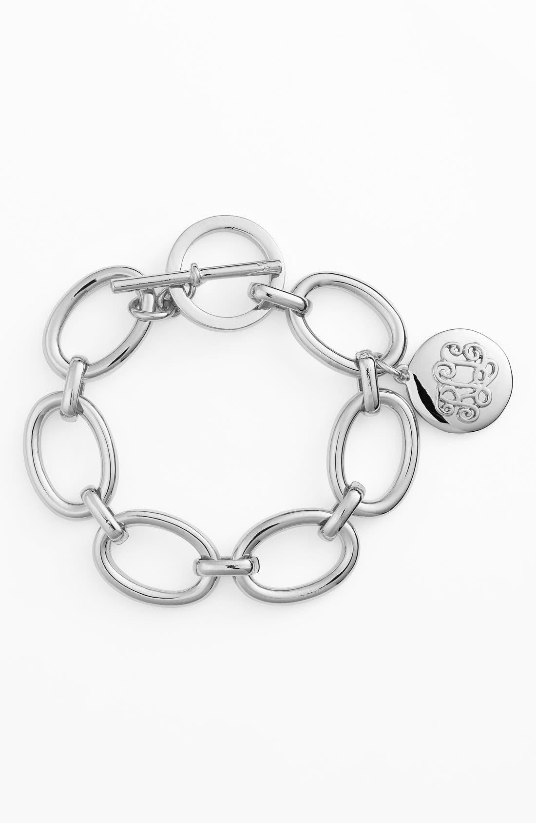 Main Image - Lauren Ralph Lauren Logo Charm Link Bracelet