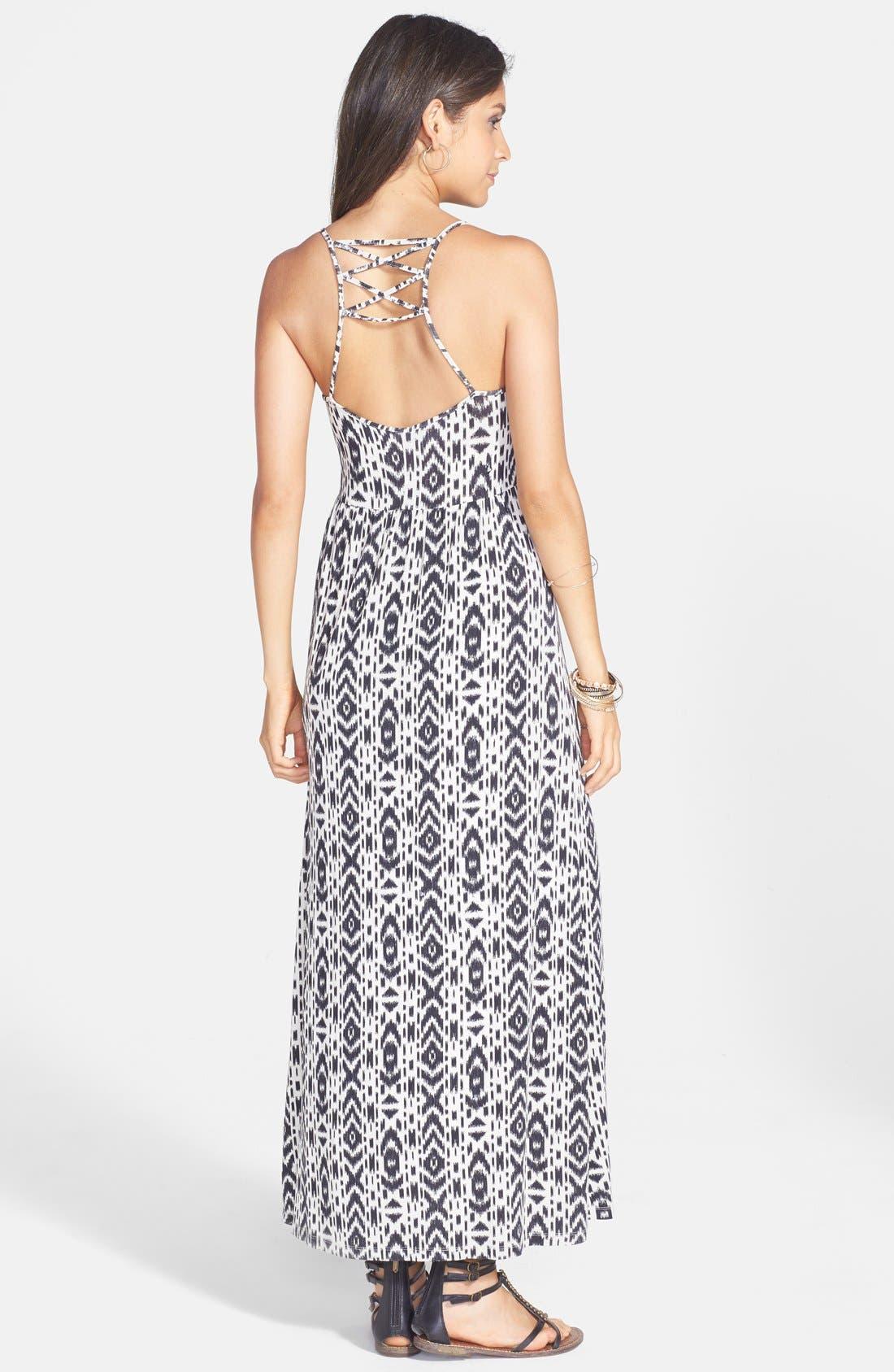 Alternate Image 2  - Volcom 'Play Along' Print Strap Detail Maxi Dress