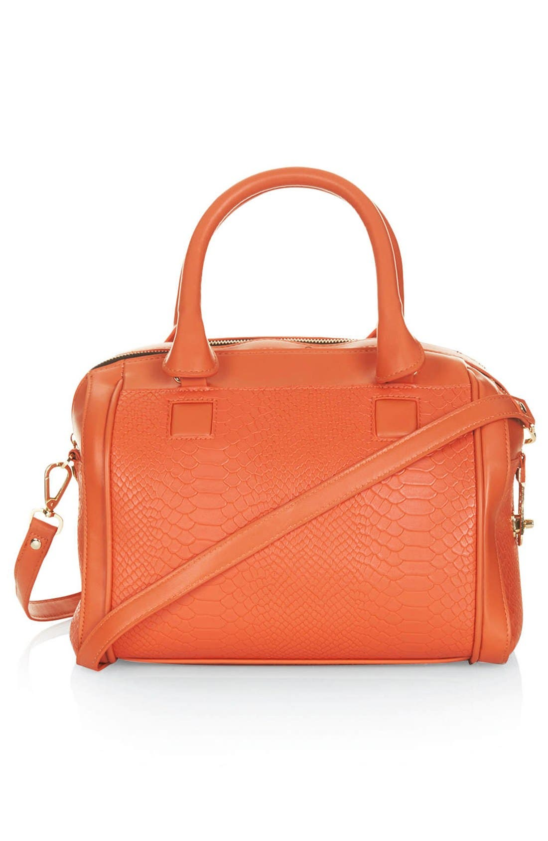 Main Image - Topshop Double Zip Faux Leather Bag