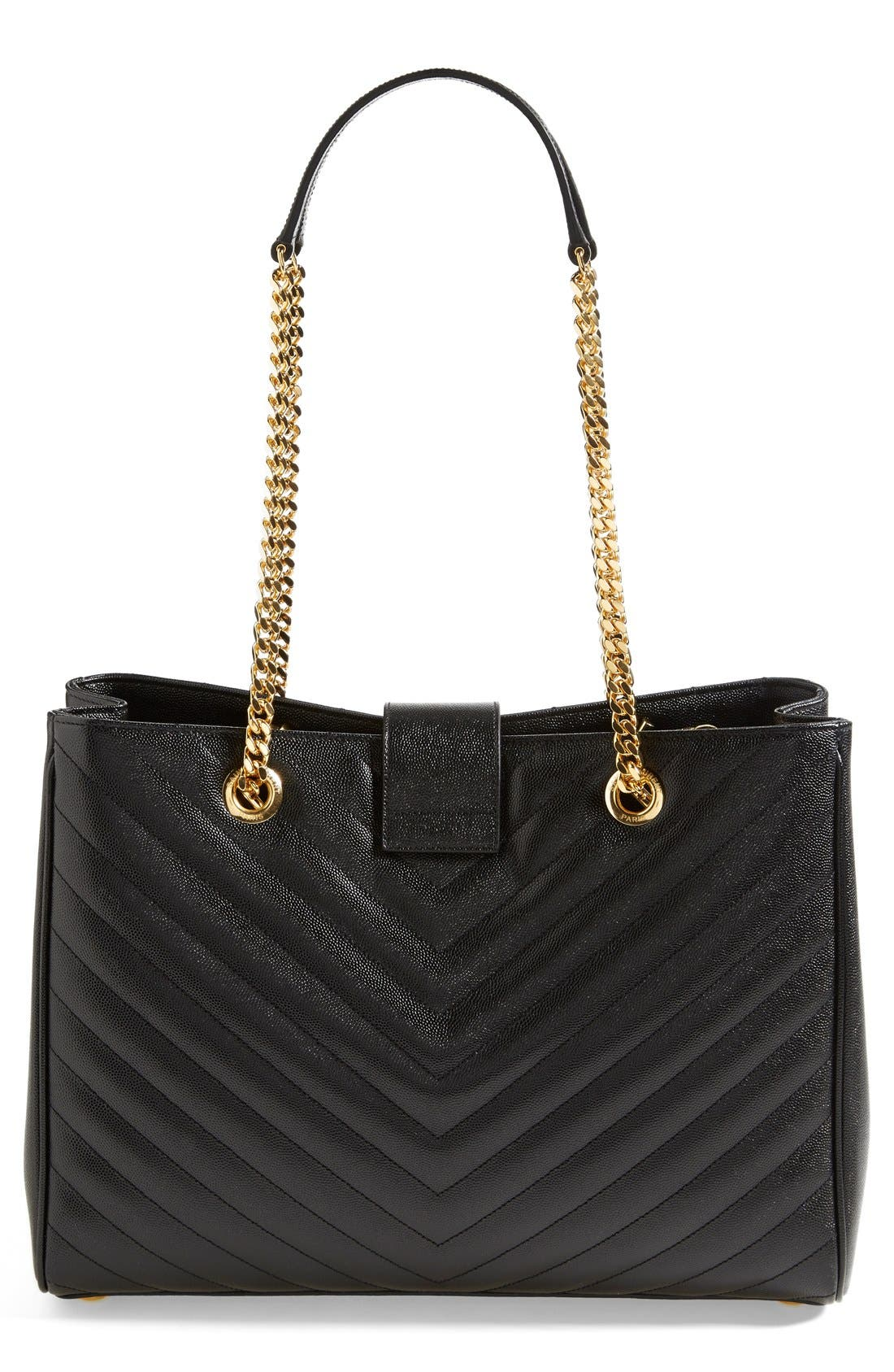 Alternate Image 3  - Saint Laurent 'Monogram' Leather Shopper