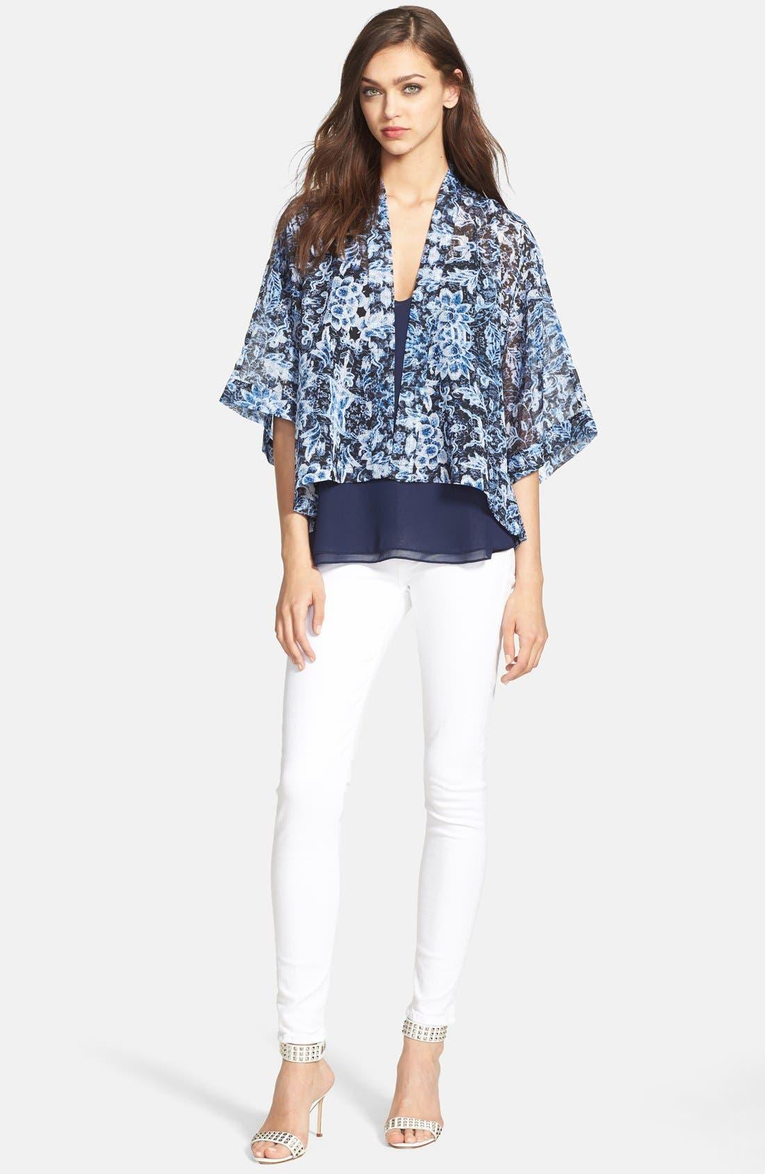 Alternate Image 4  - Hudson Jeans 'Nico' Skinny Stretch Jeans (White)