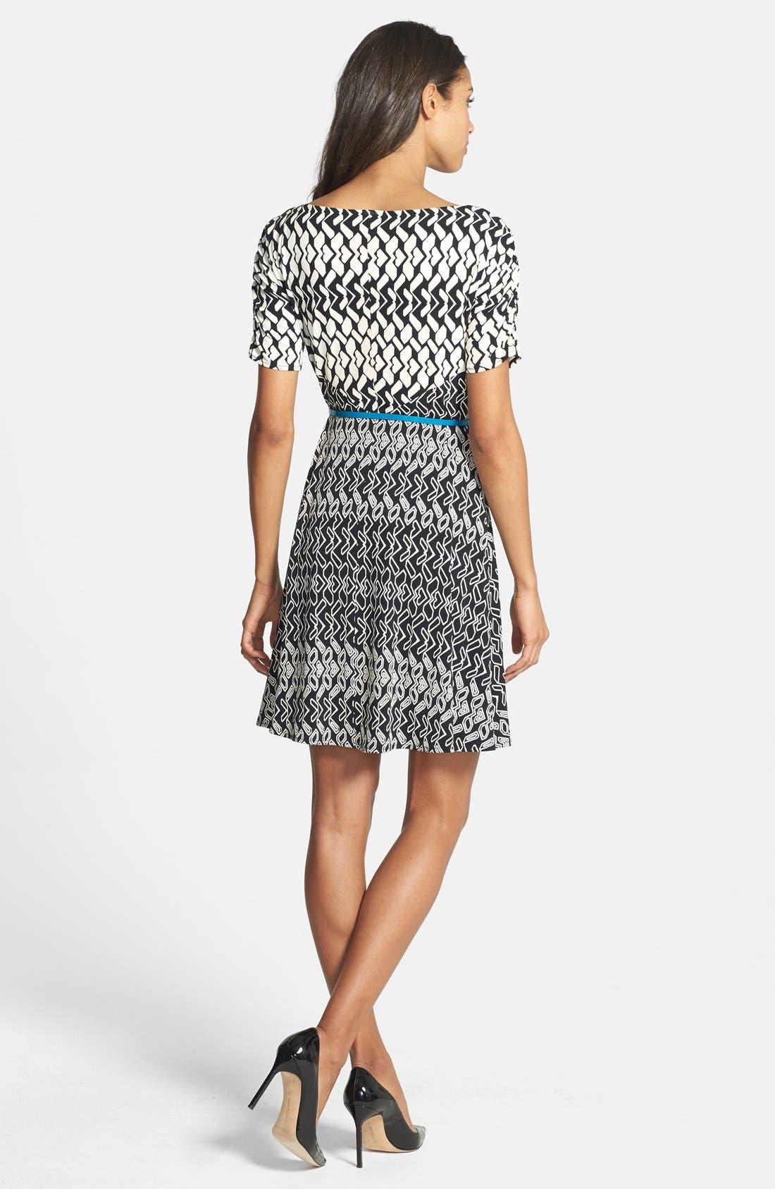 Alternate Image 2  - Donna Morgan Print Fit & Flare Jersey Dress (Regular & Petite)