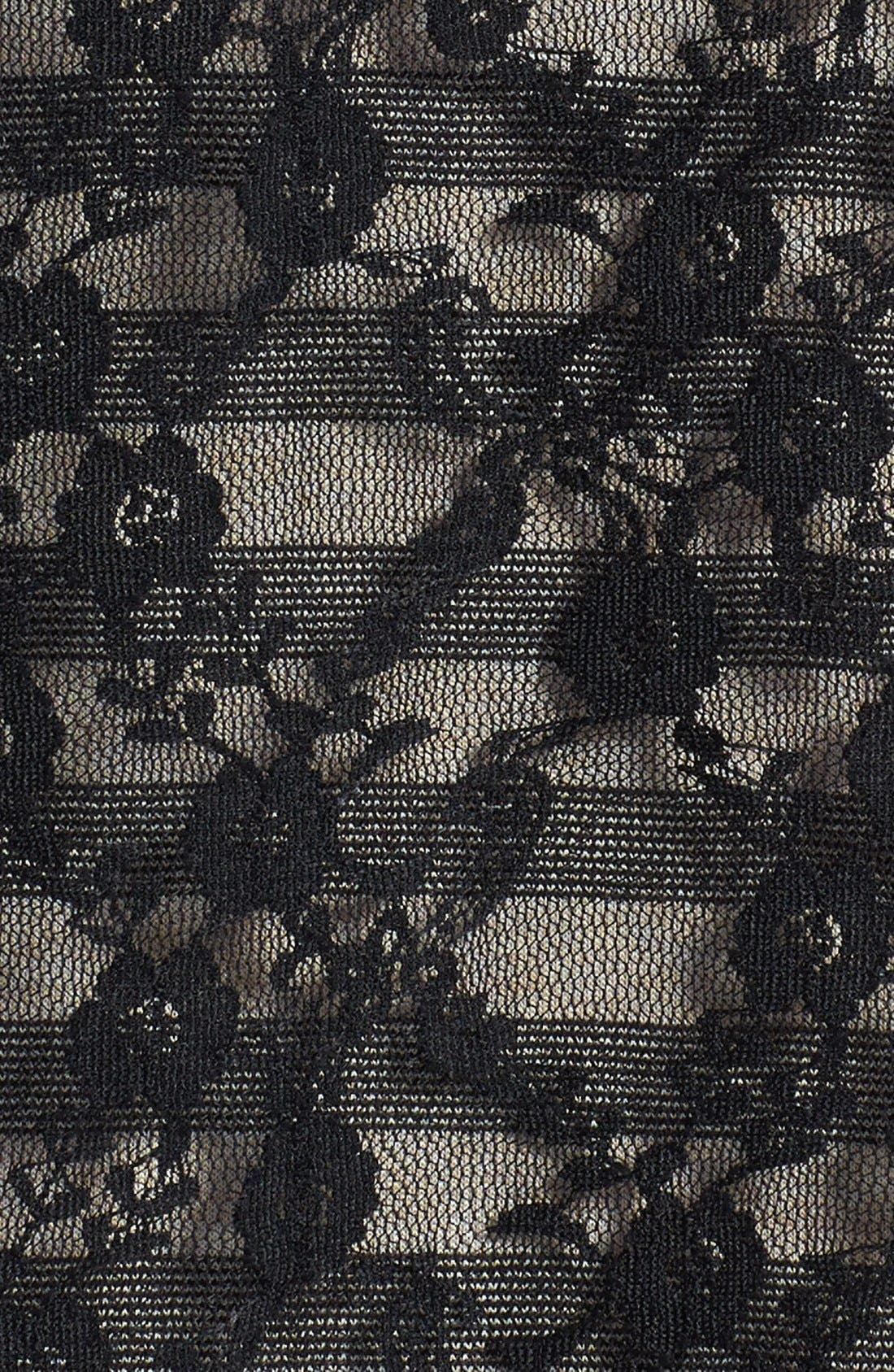 Alternate Image 3  - kensie Lace Overlay Stripe Jersey Dress