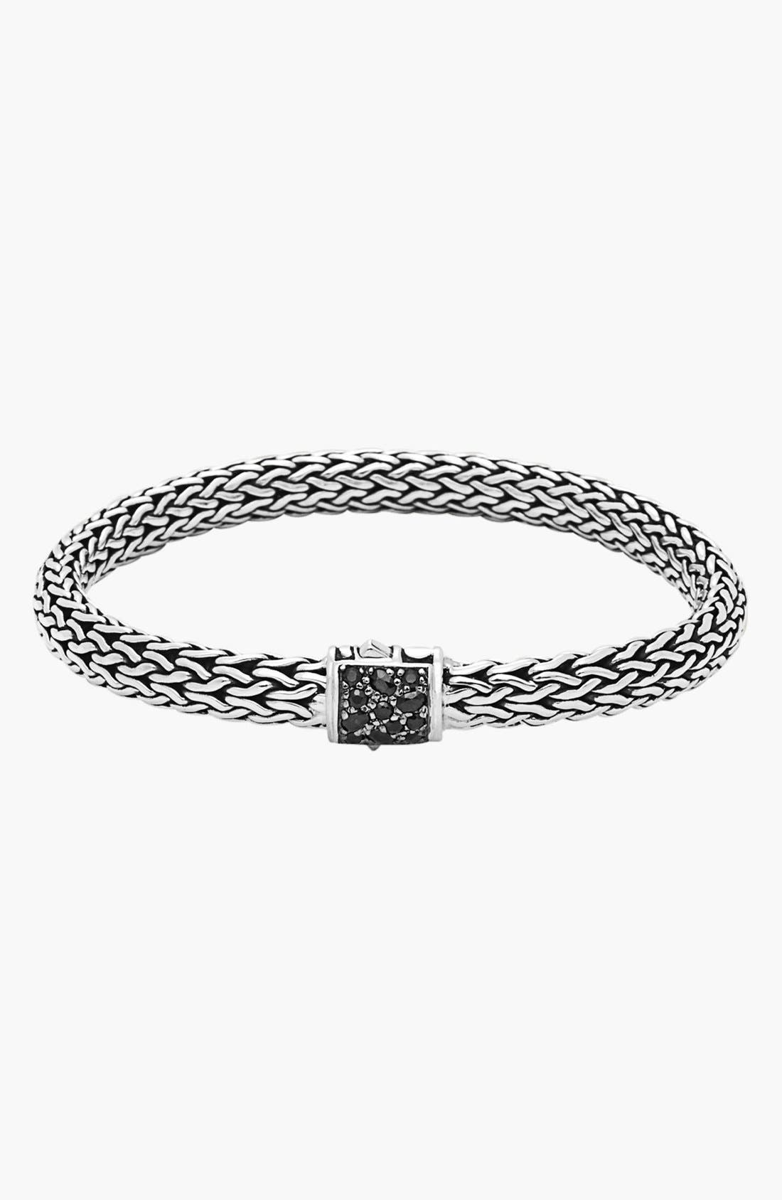 Main Image - John Hardy 'Classic Chain - Lava' Black Sapphire Bracelet